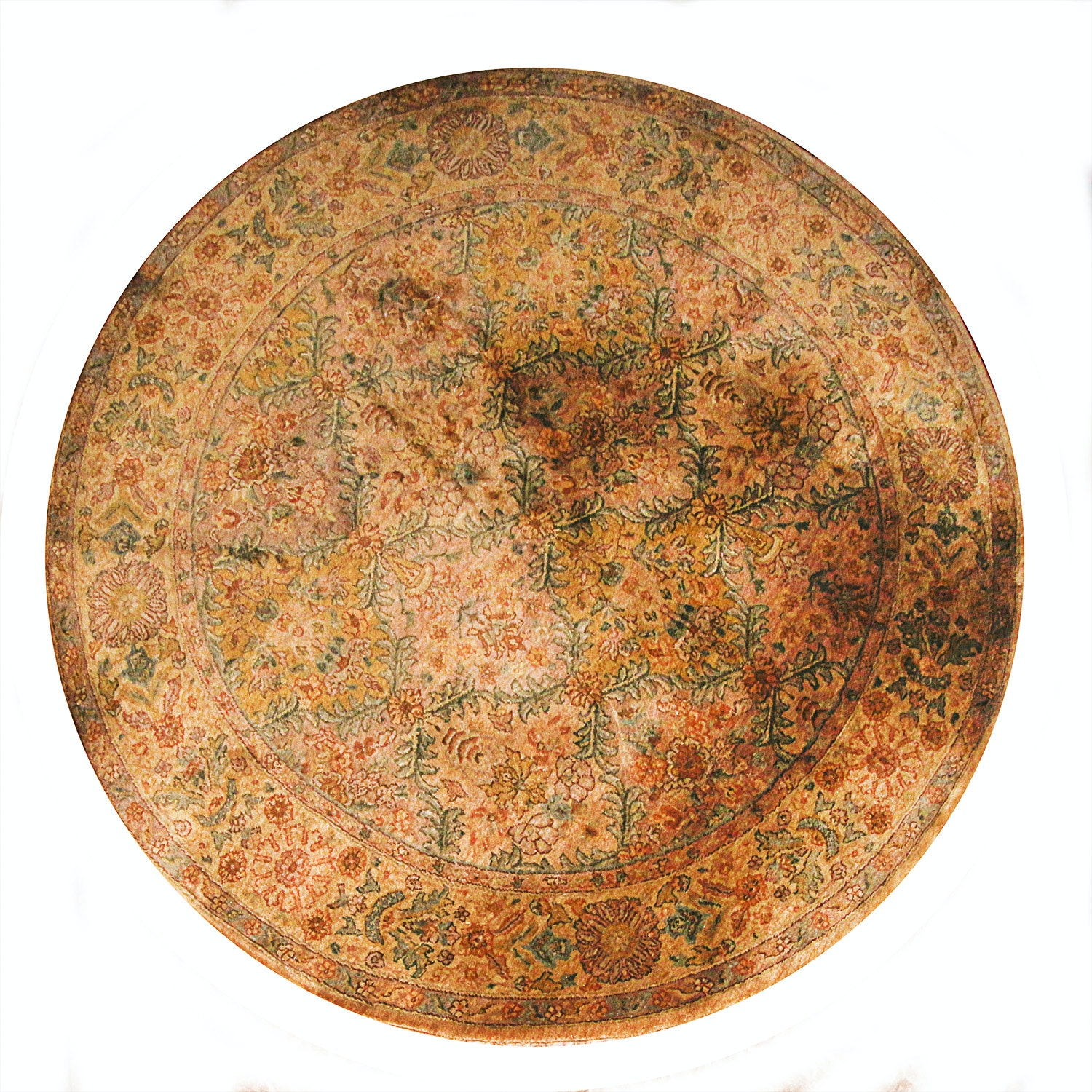 Hand Woven Indo-Persian Round Rug