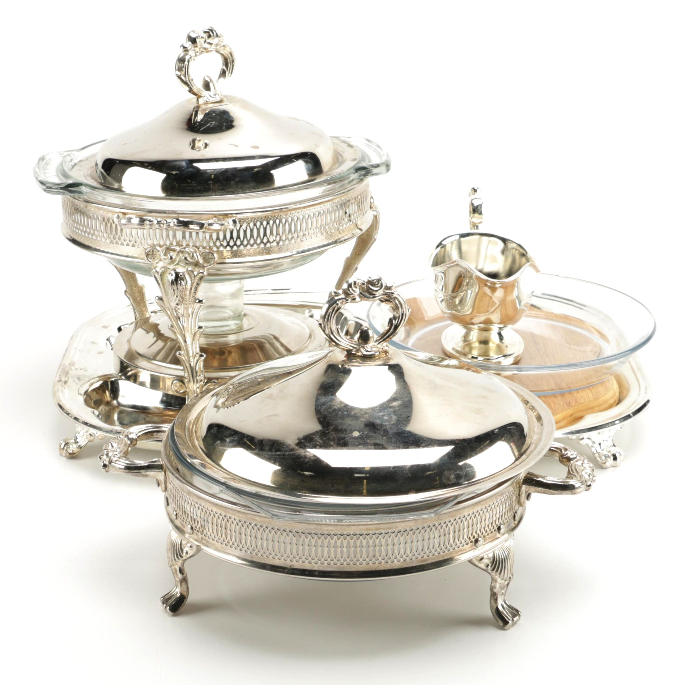 Silver Plate and Glass Tableware