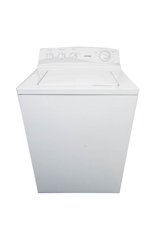 hotpoint white top load washing machine