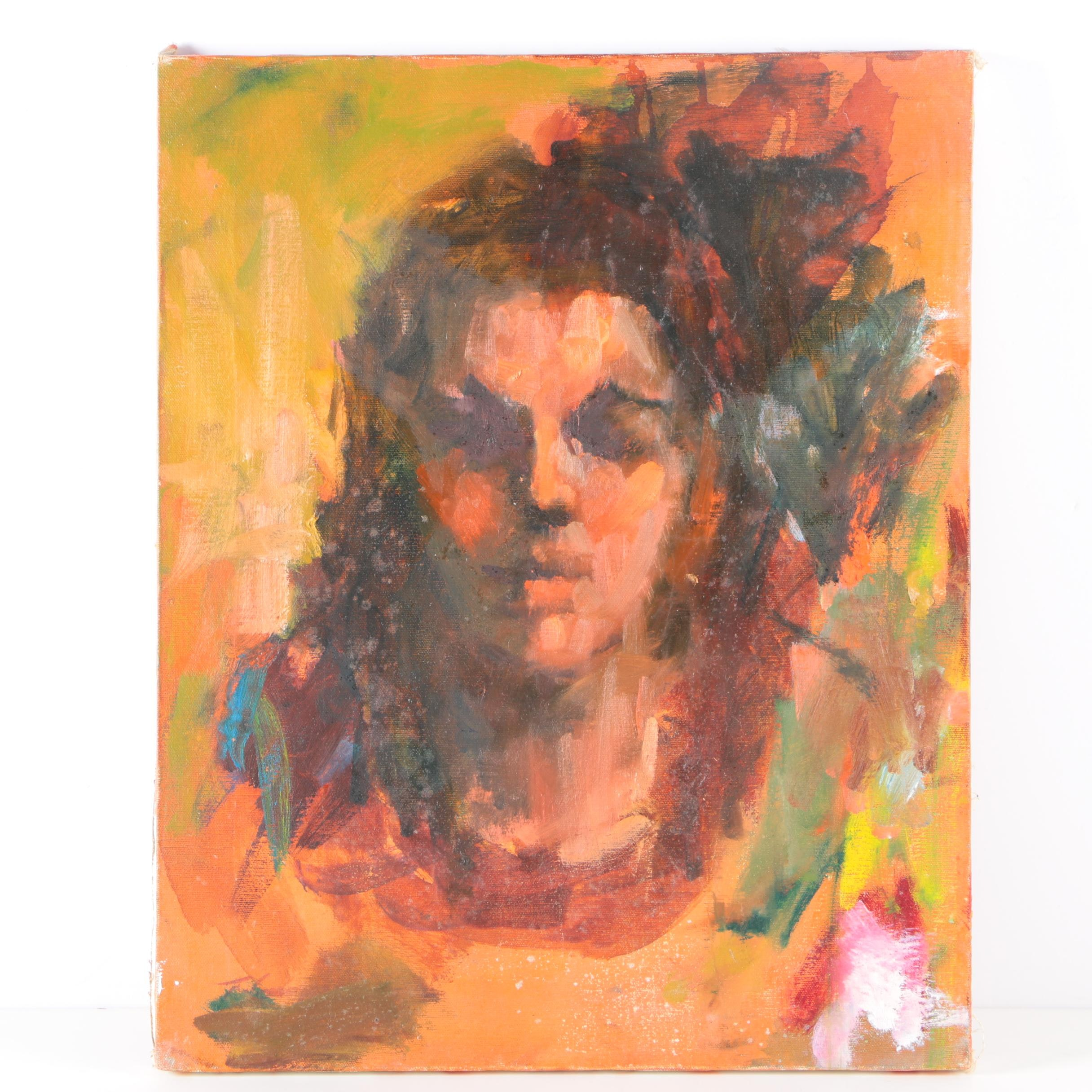 Oil Portrait Painting on Canvas