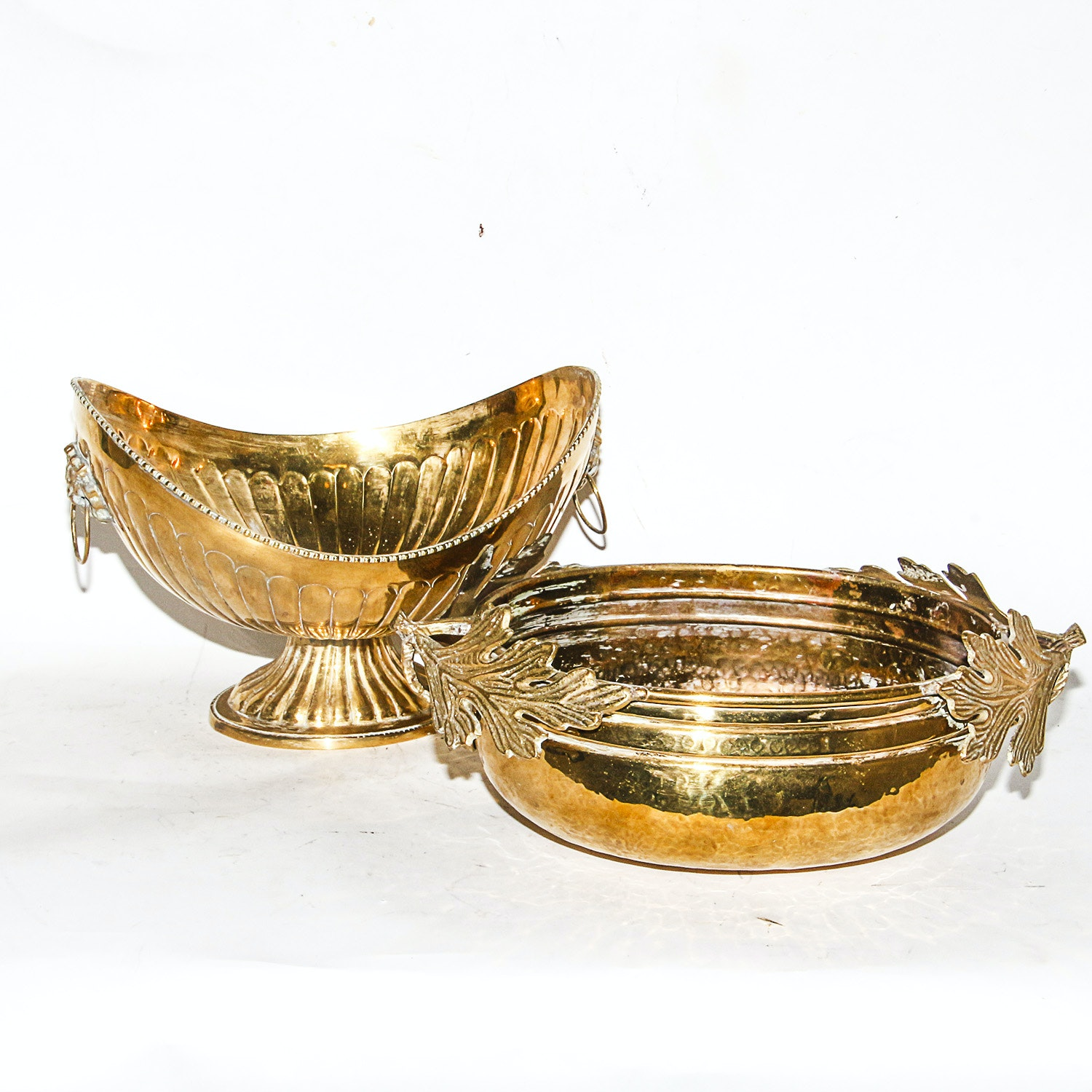Pair of Brass Bowls