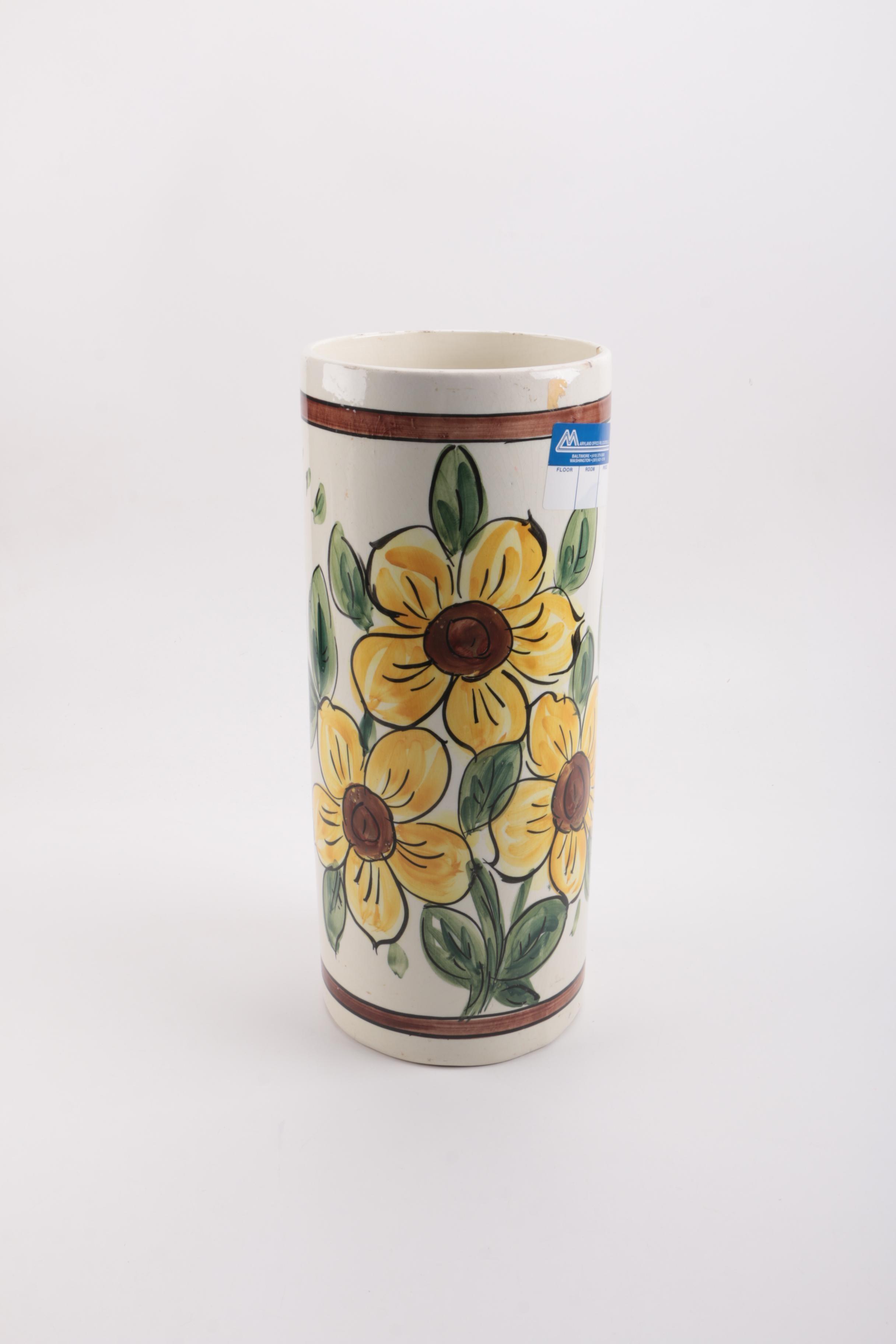 White Ceramic Floral Vase