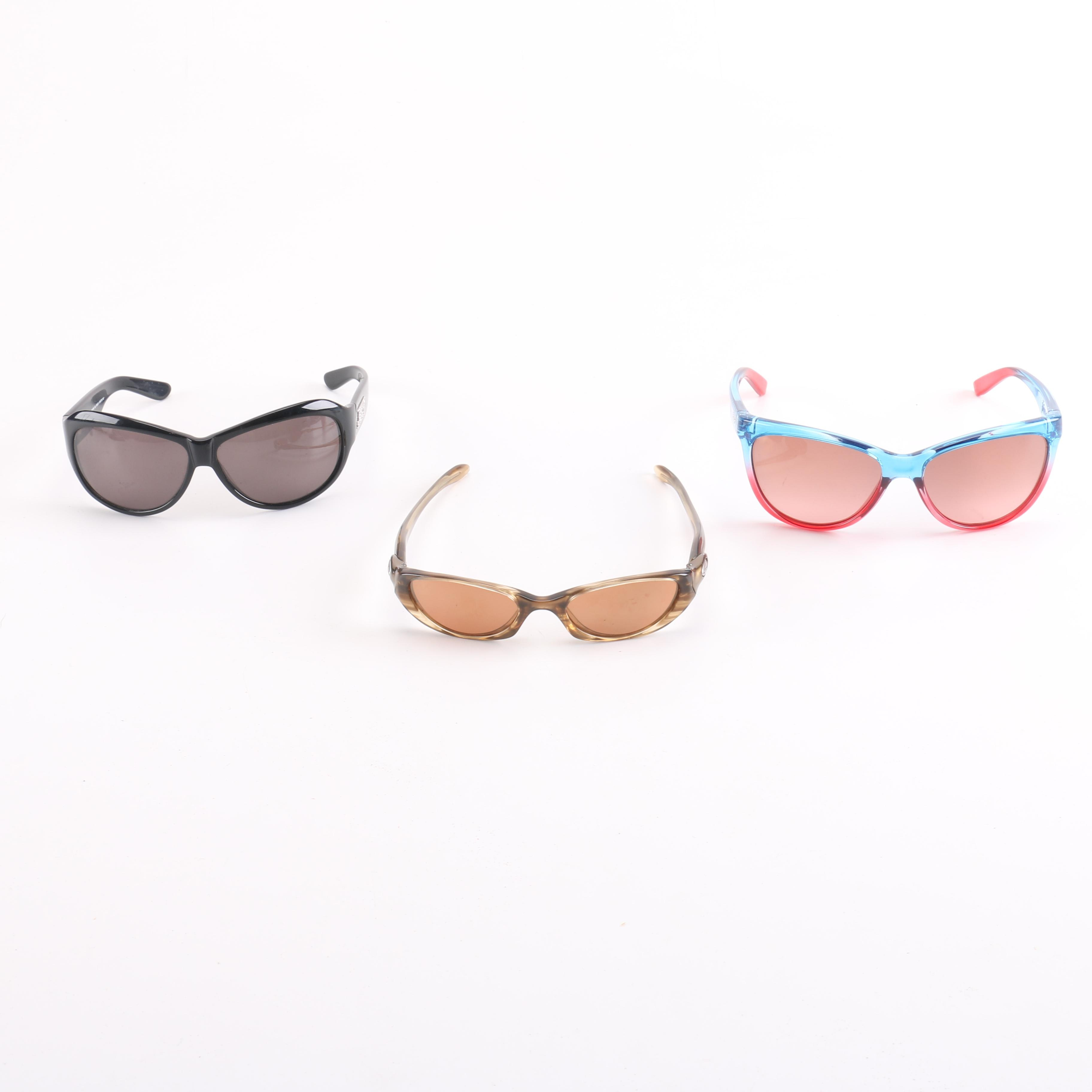 Selection of Sunglasses Including Oakley and Juicy Couture