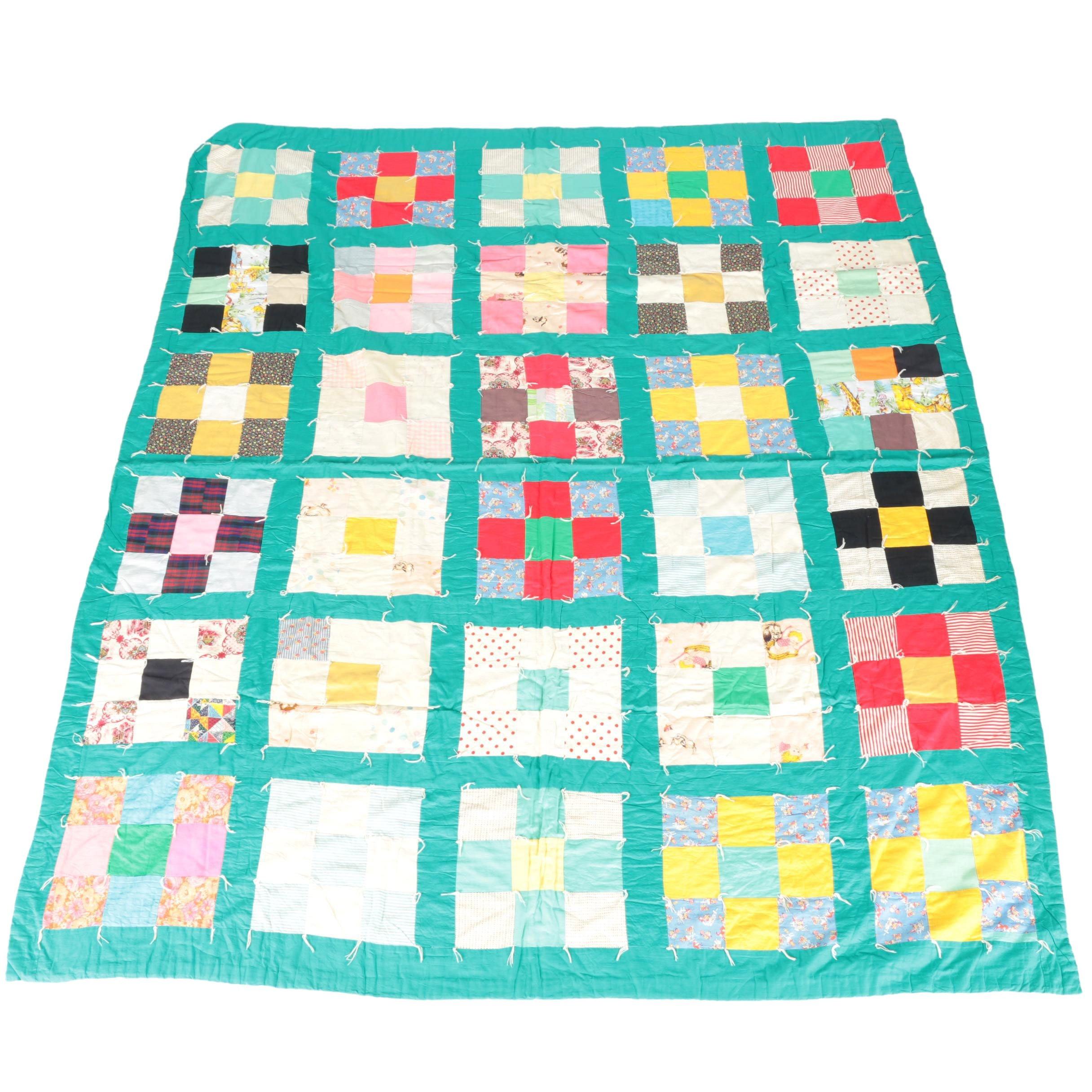 Handmade Patchwork Tack Quilt