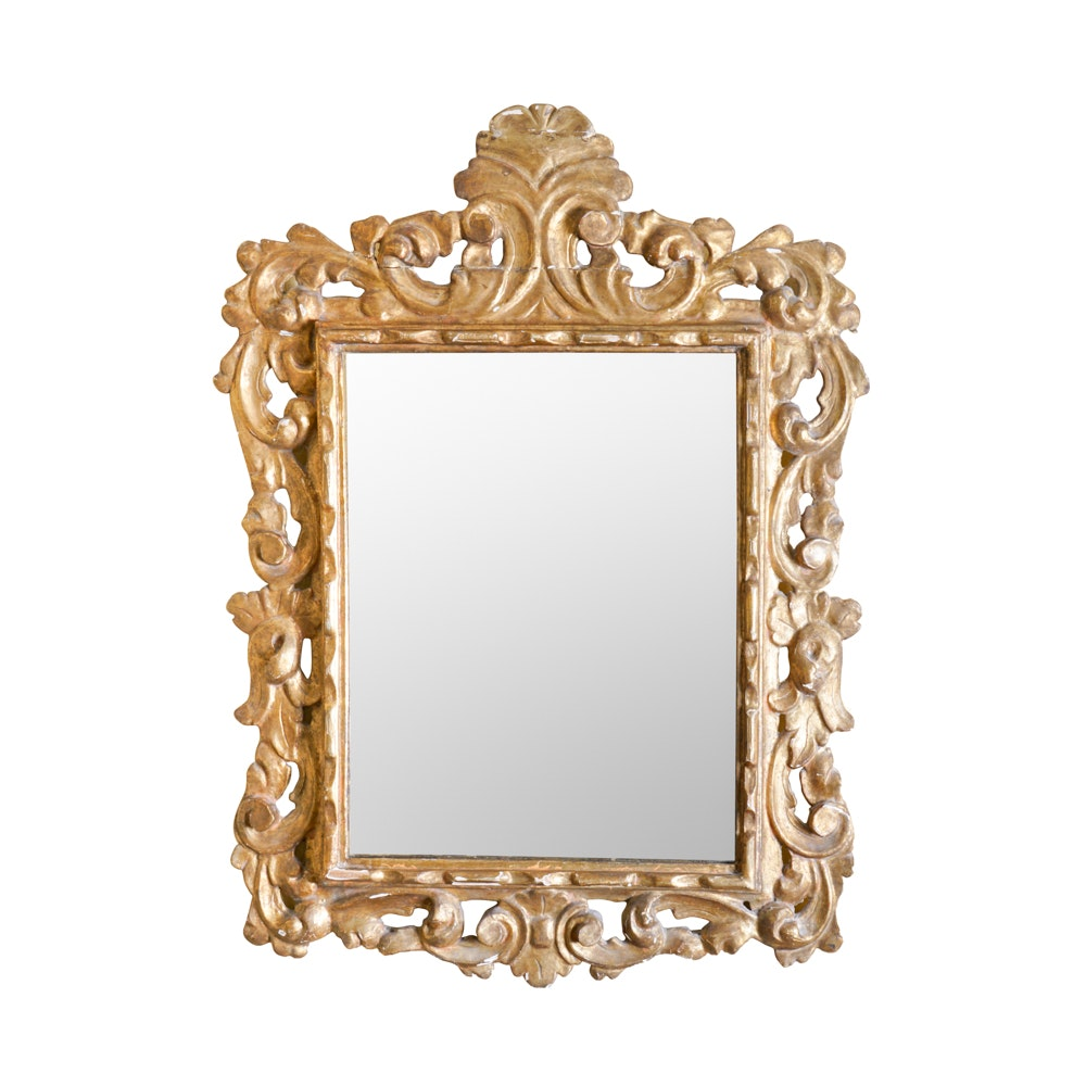 Baroque Style Wood Wall Mirror