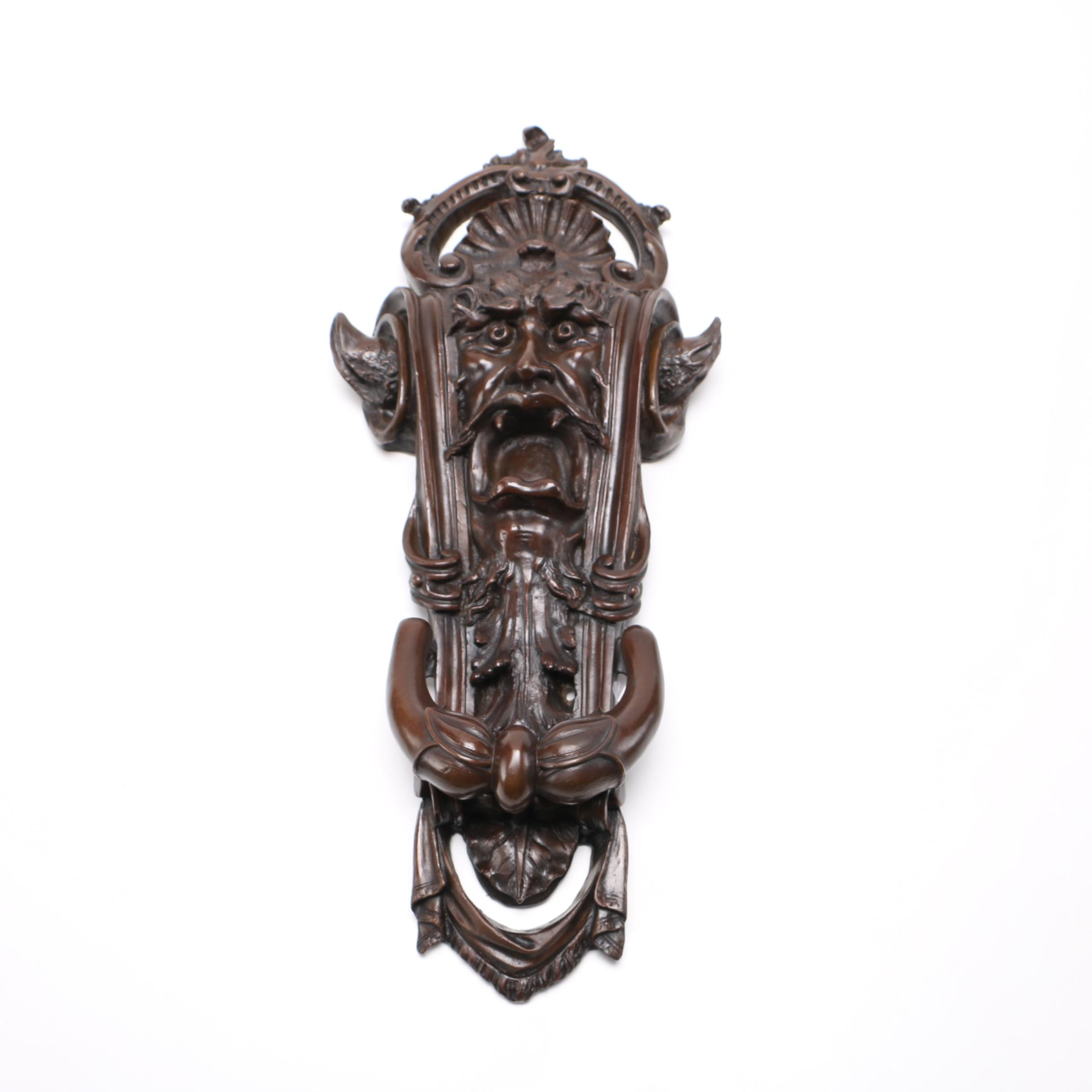 Gothic Style Bronze Door Knocker