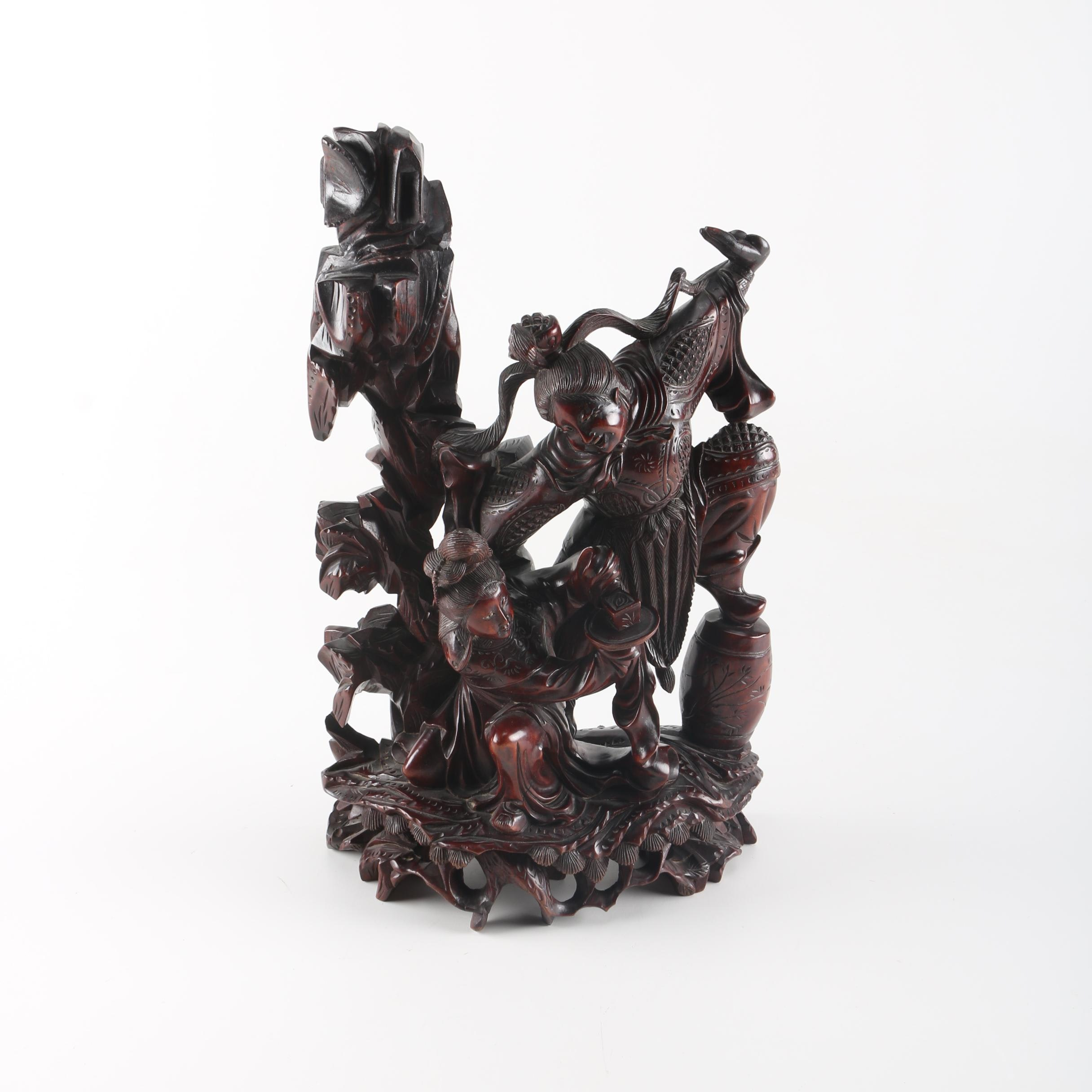 Chinese Carved Wooden Sculpture