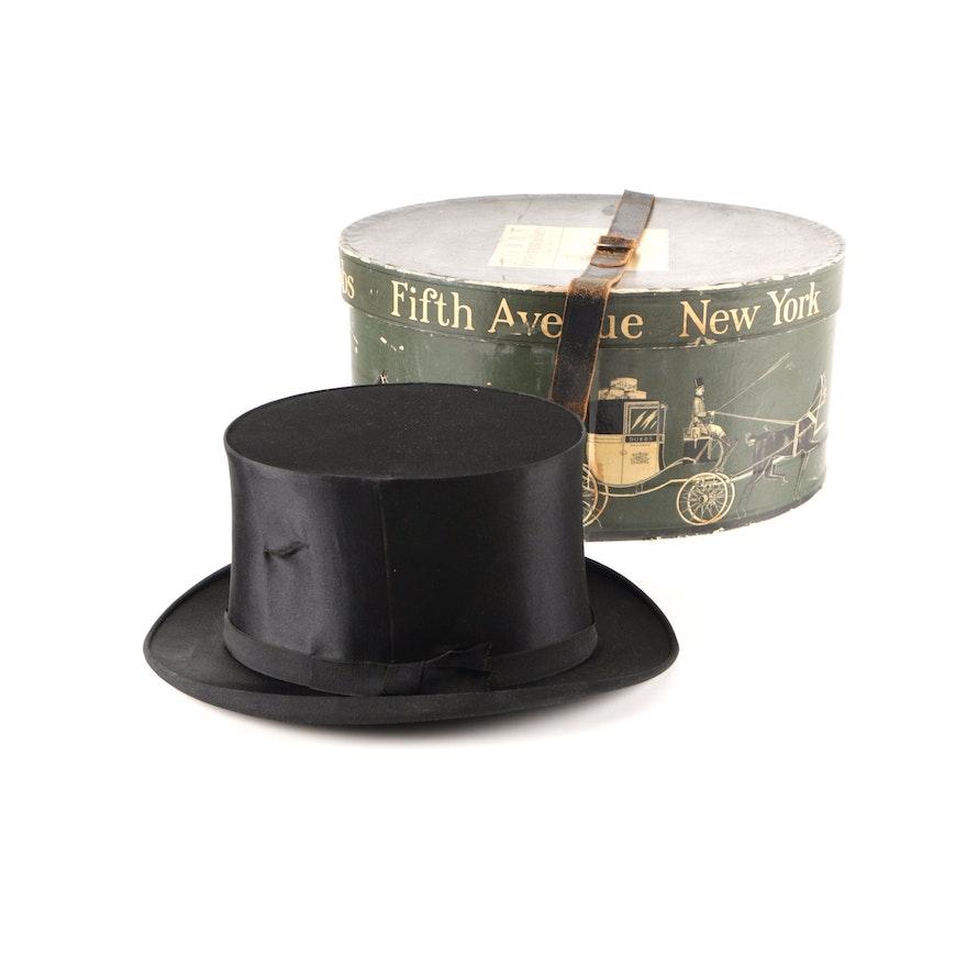 Dobbs Fifth Avenue Top Hat with Box   EBTH 1c22623c7d4