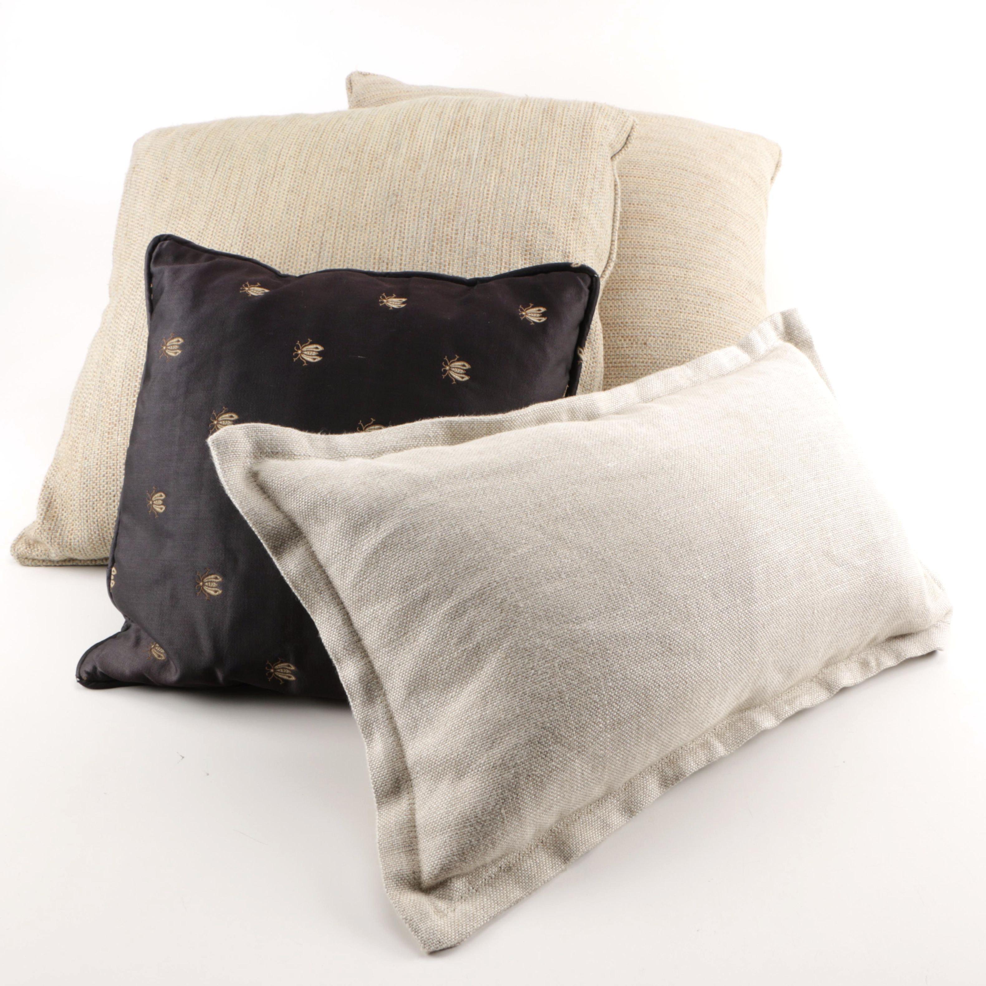Decorative Accent Pillows featuring Restoration Hardware