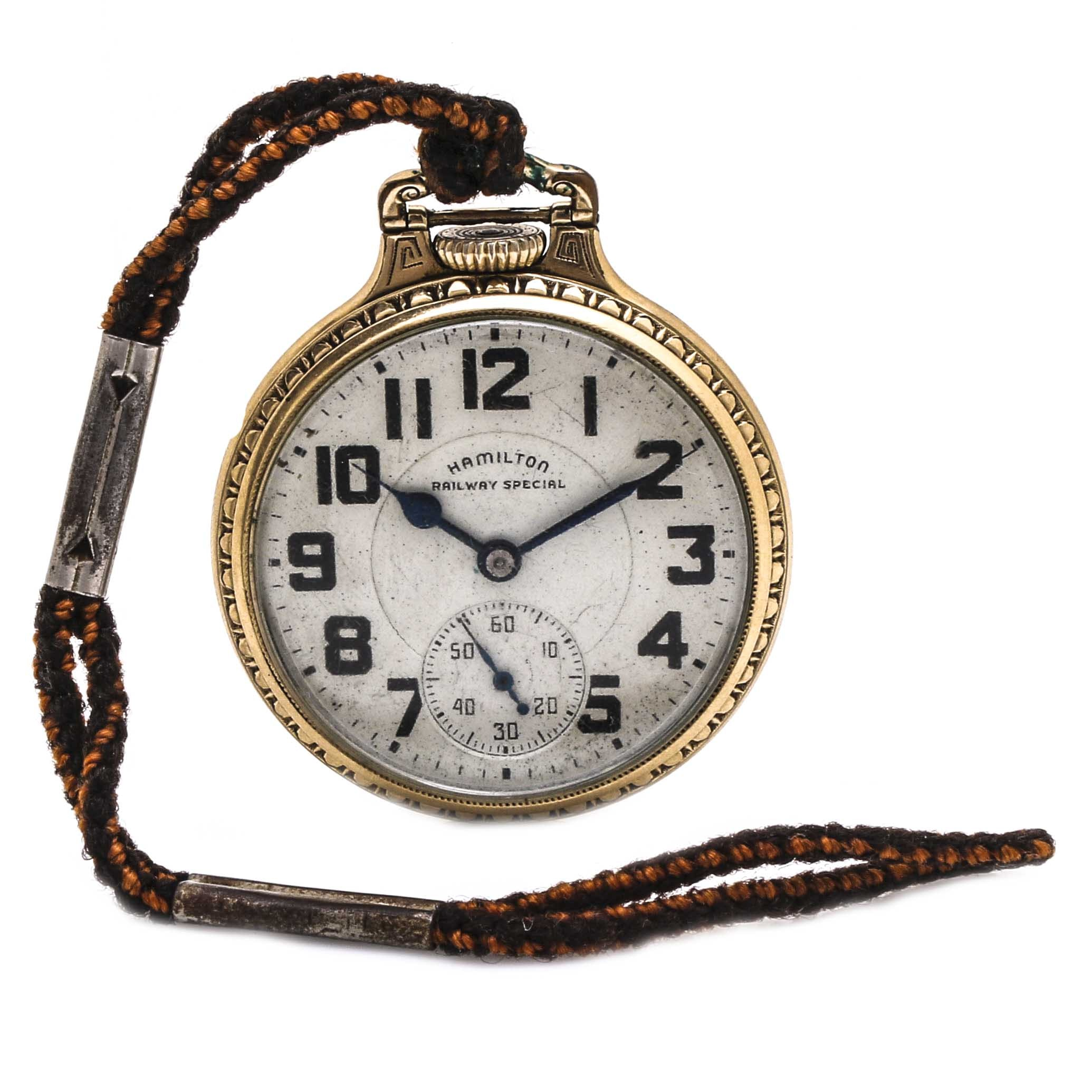 Vintage Hamilton Railway Special Gold Filled Pocket Watch