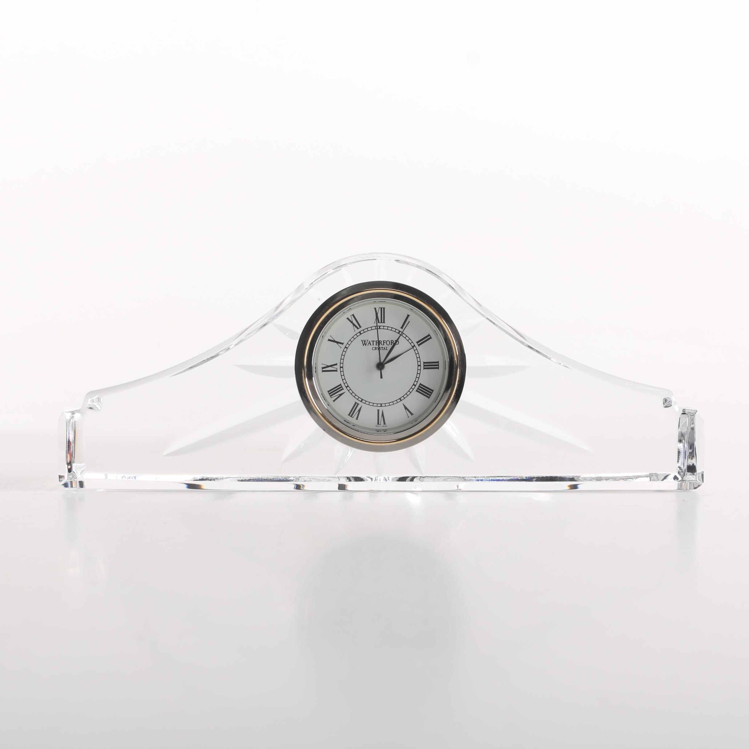 "Waterford Crystal ""Ashton"" Mantle Clock"