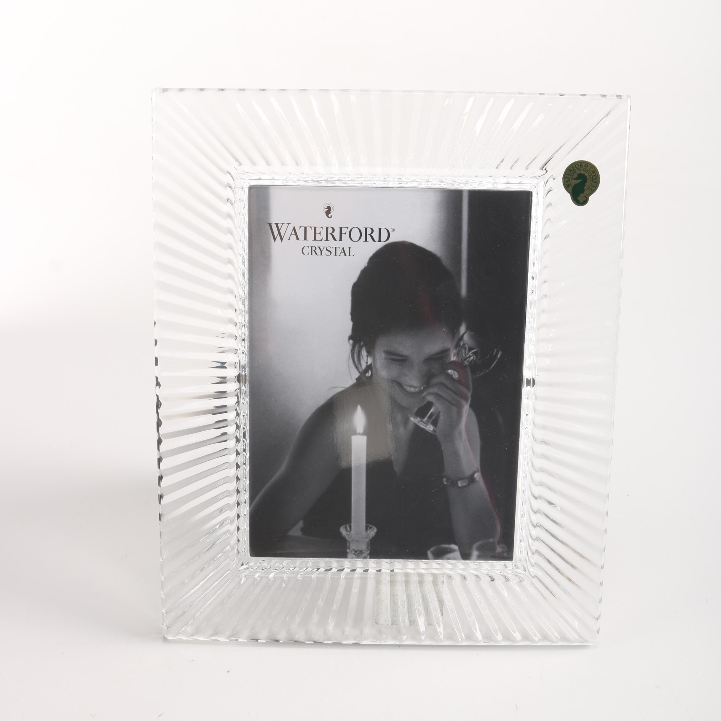 "Waterford Crystal ""Somerset"" Picture Frame"
