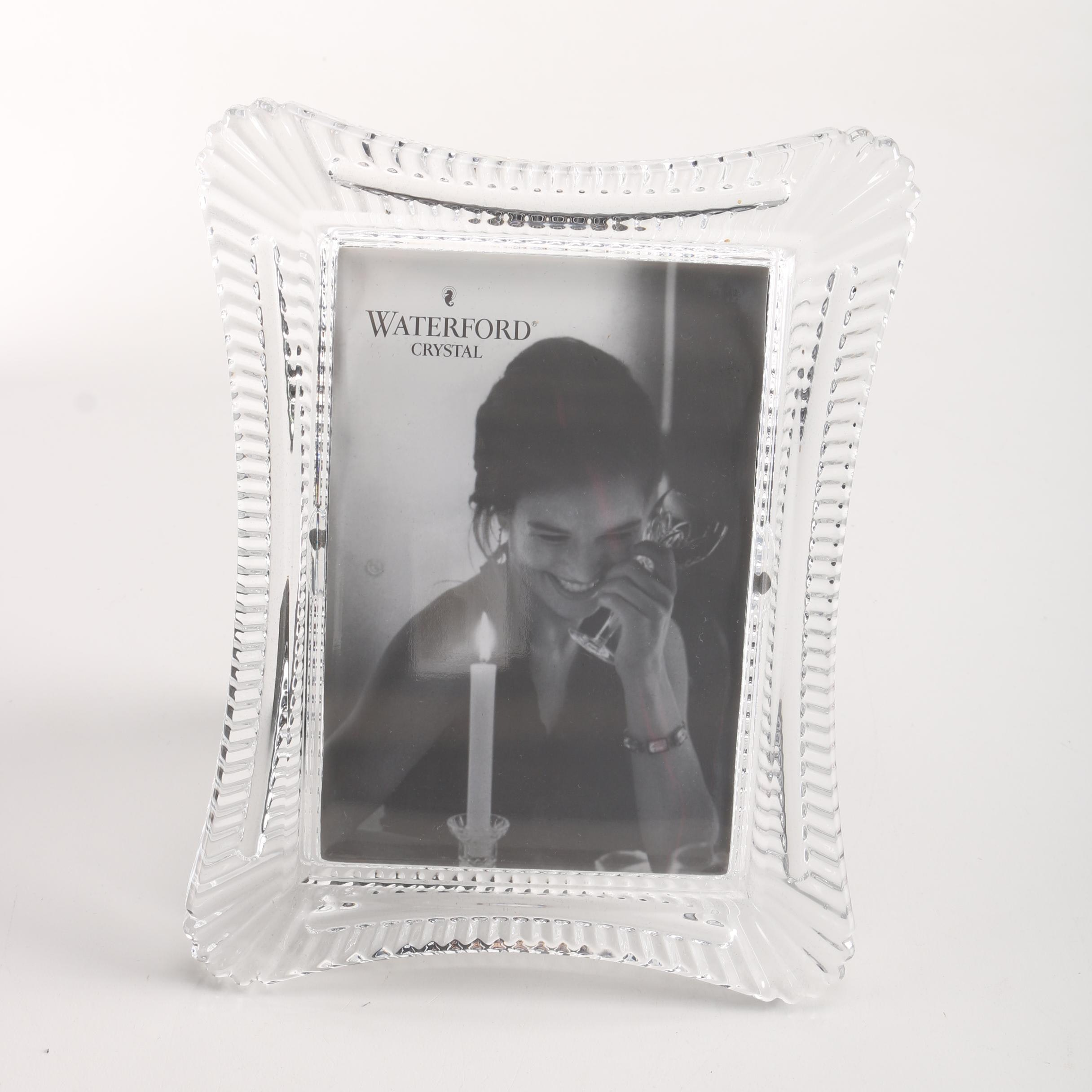 "Waterford Crystal ""Wellesely"" Picture Frame"