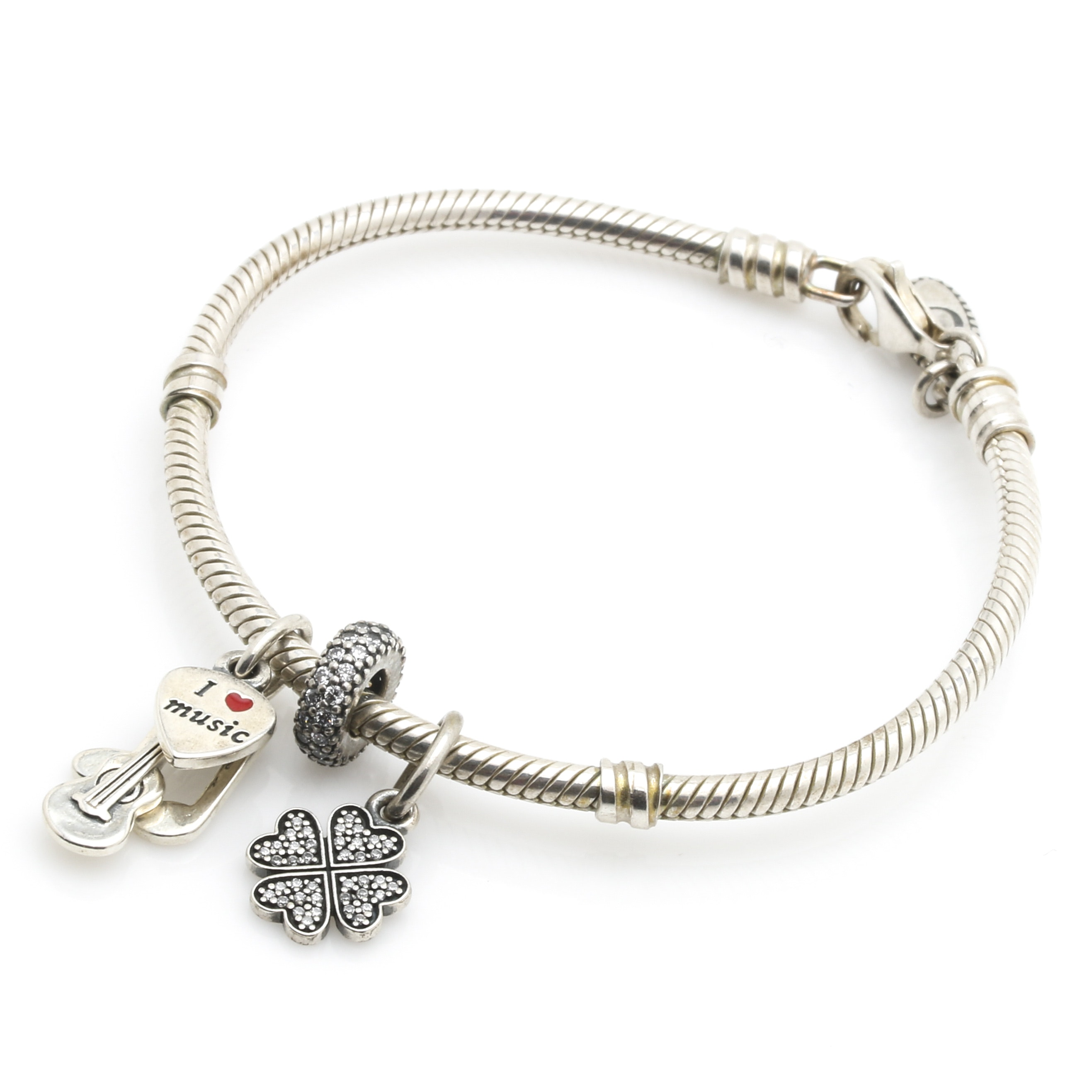 Pandora Sterling Silver Assorted Charm Bracelet