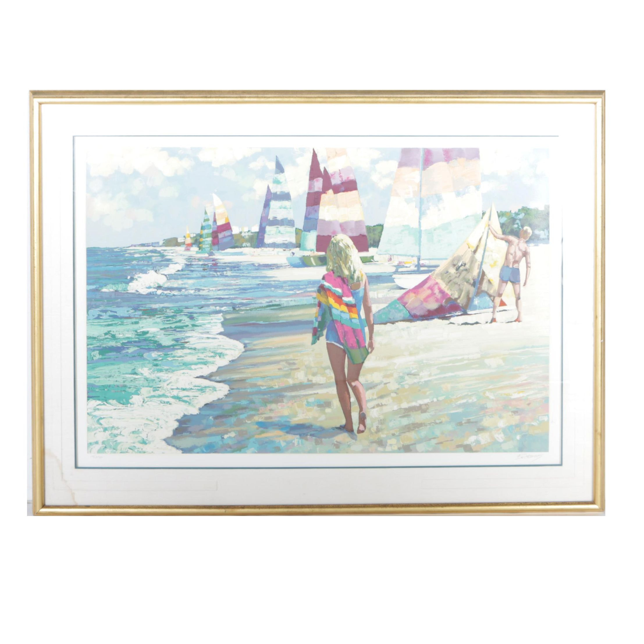 "Howard Behrens Signed Limited Edition Giclée ""Luminous Beach"""