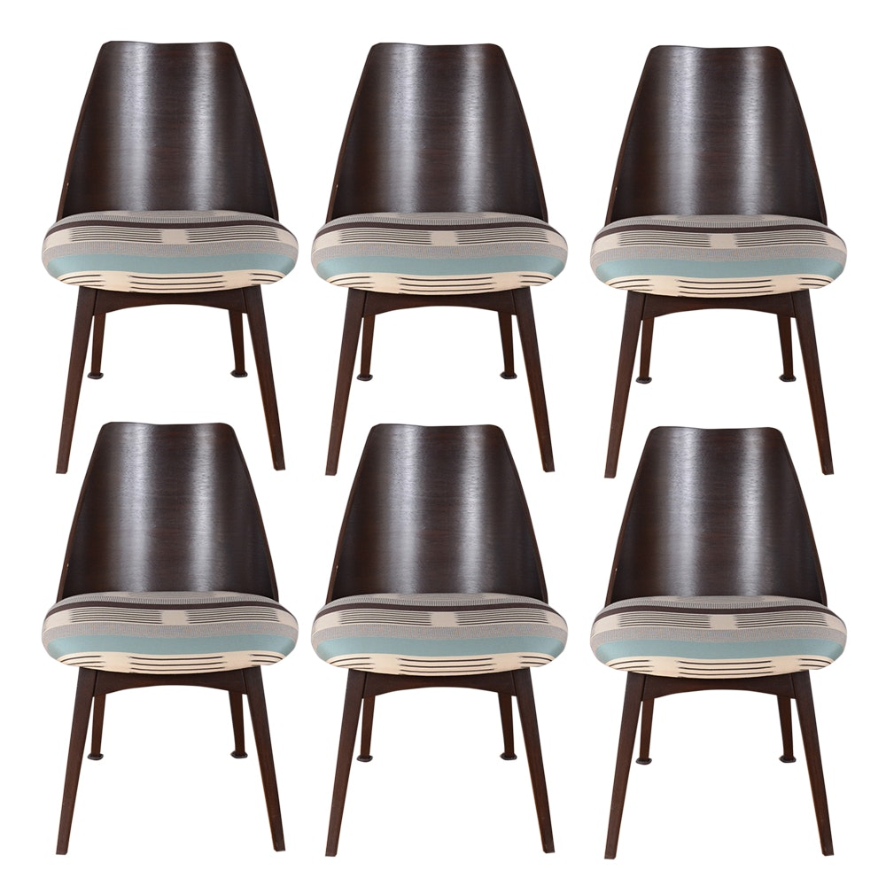 Vintage Upholstered Wooden Side Chairs