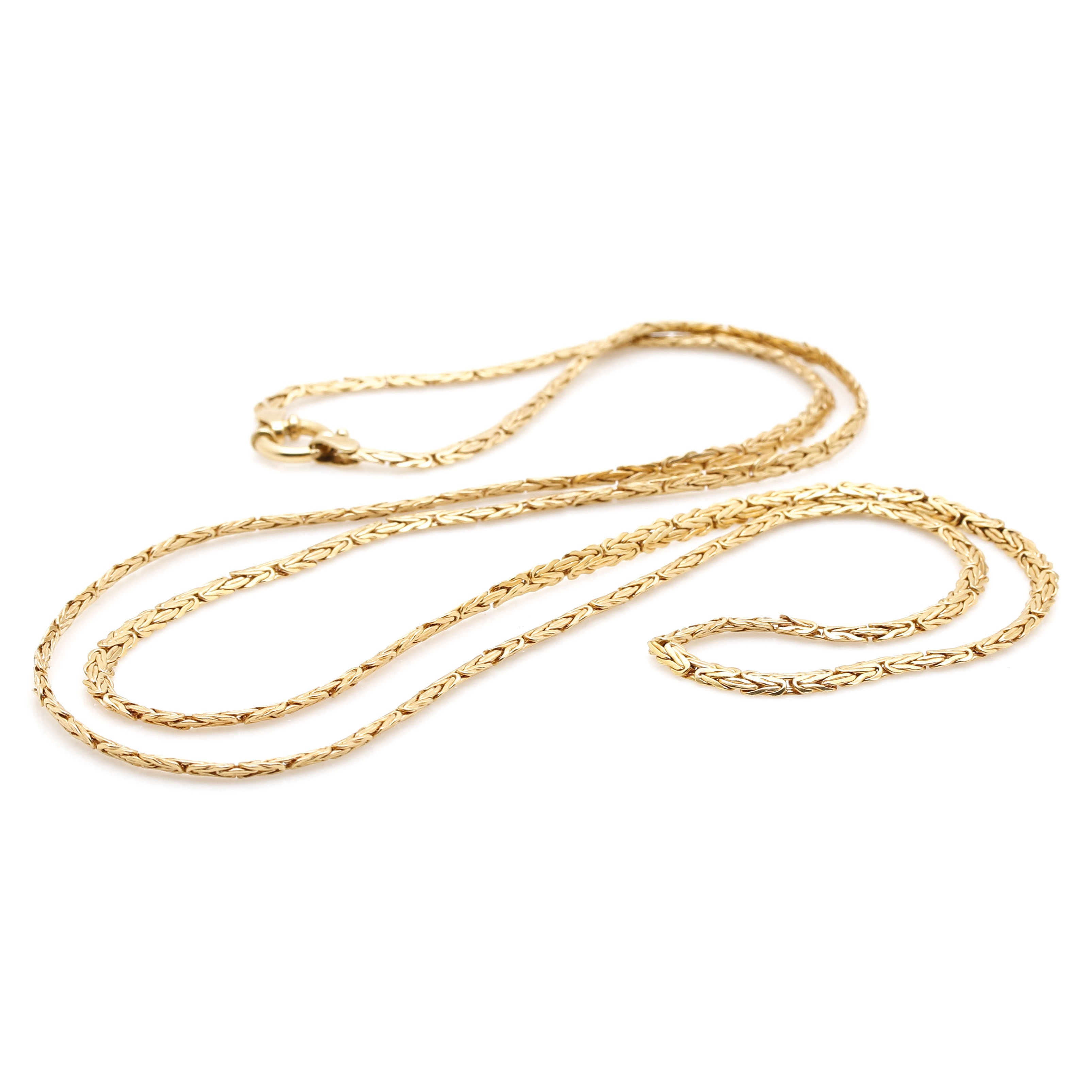 14K Yellow Gold Milor Byzantine Chain Necklace