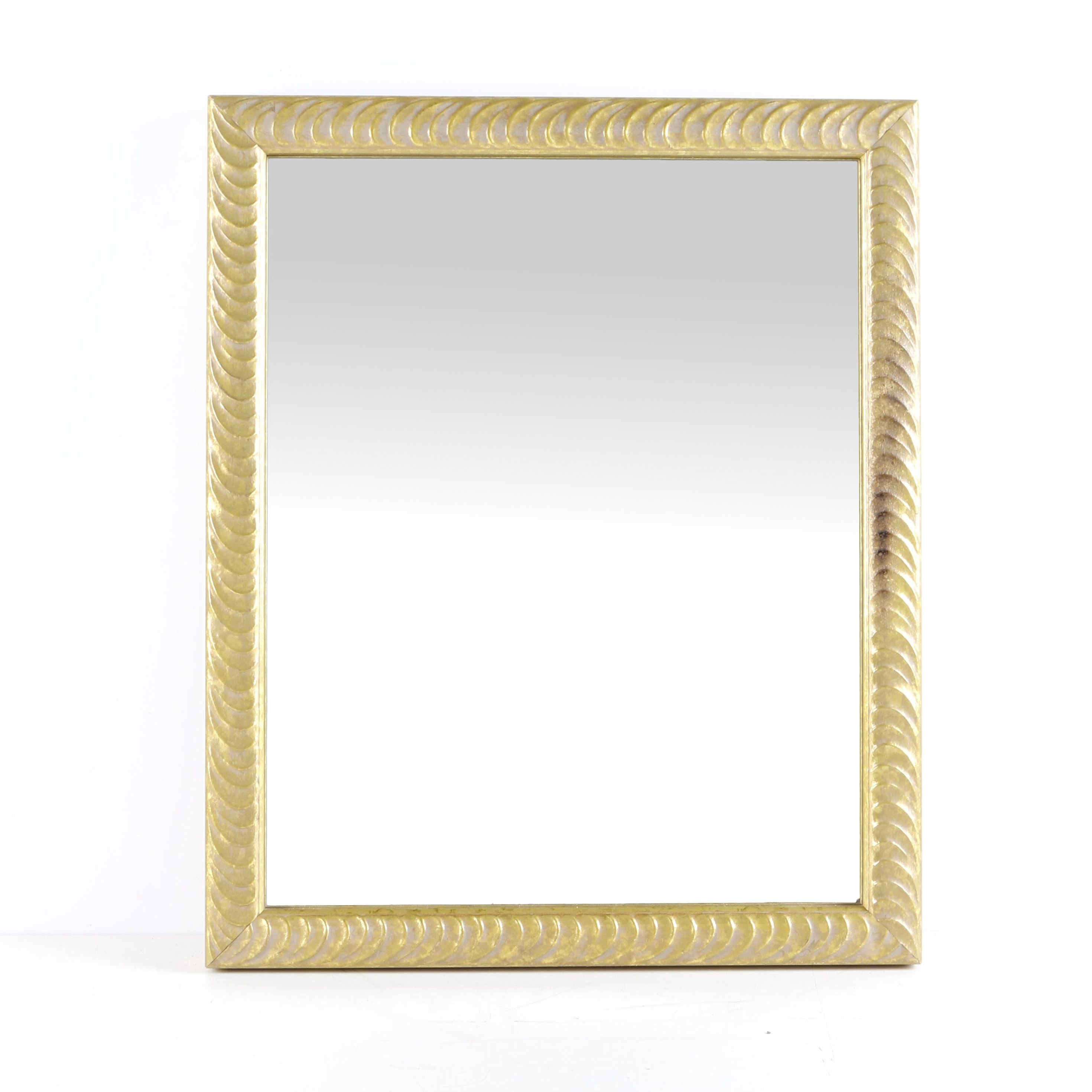 Mirror With Gold Toned Frame