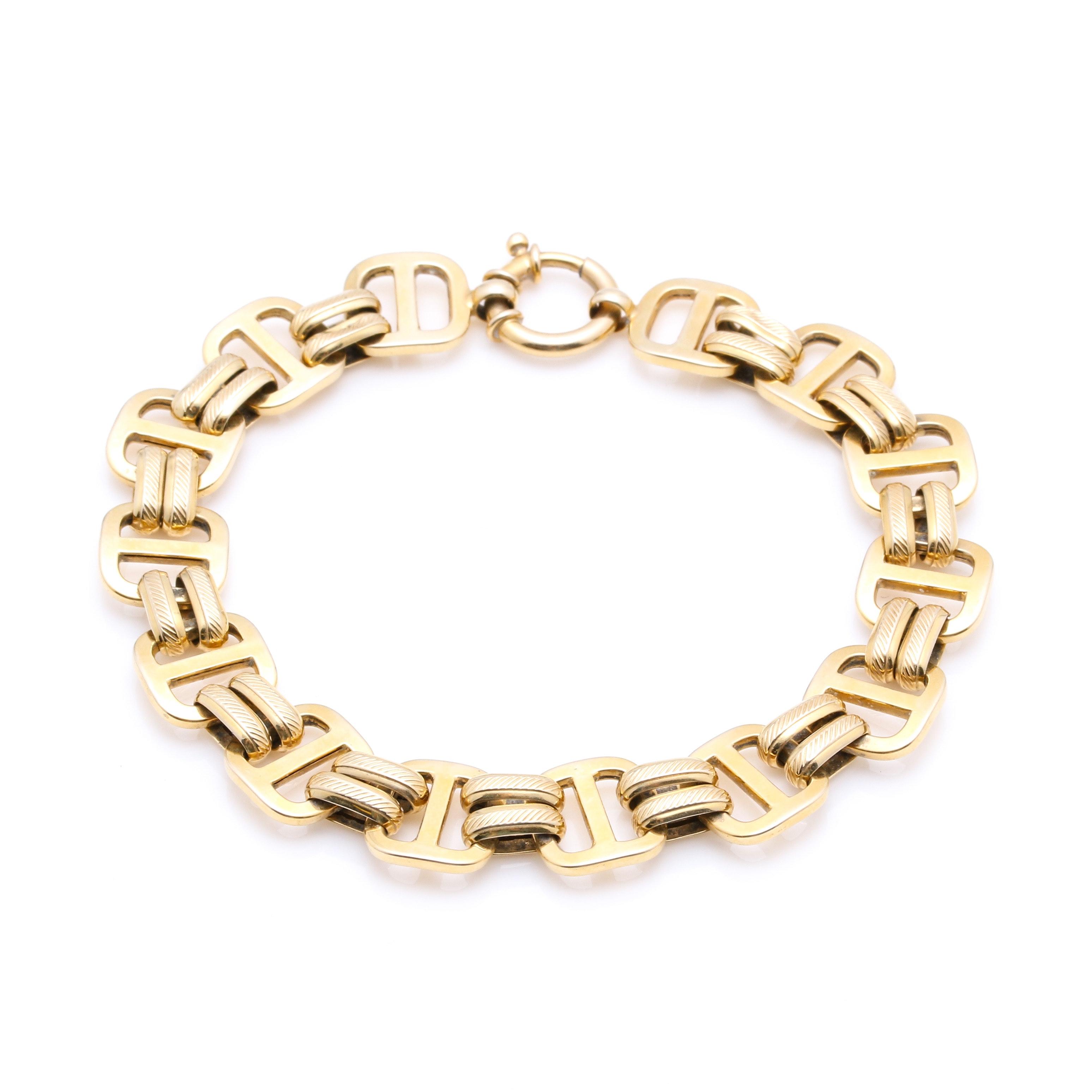14K Yellow Gold Milor Fancy Link Bracelet
