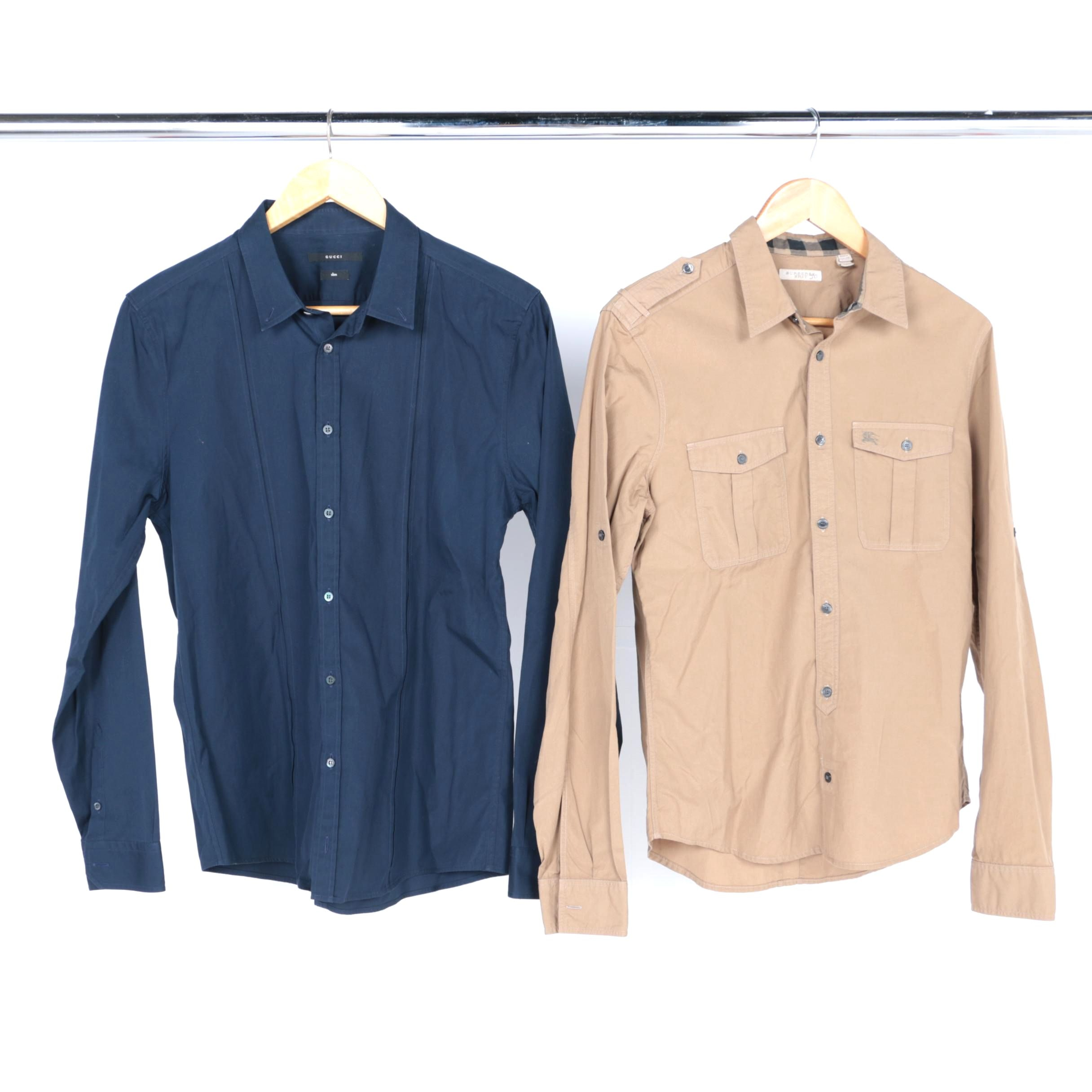 Gucci and Burberry Button-Ups and Button Down Shirts