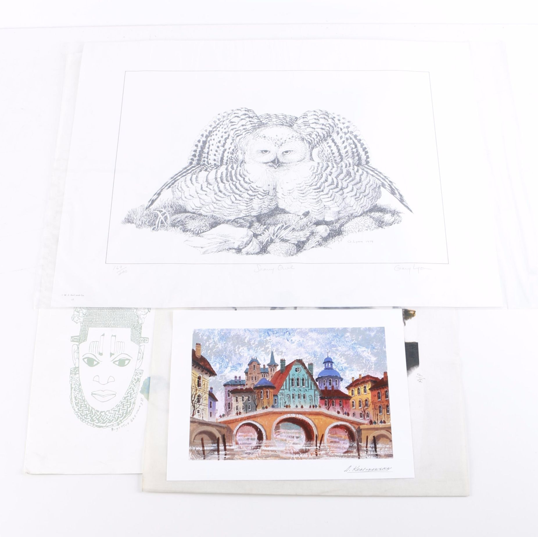 Original and Reproduction Prints on Paper in a Variety of Styles
