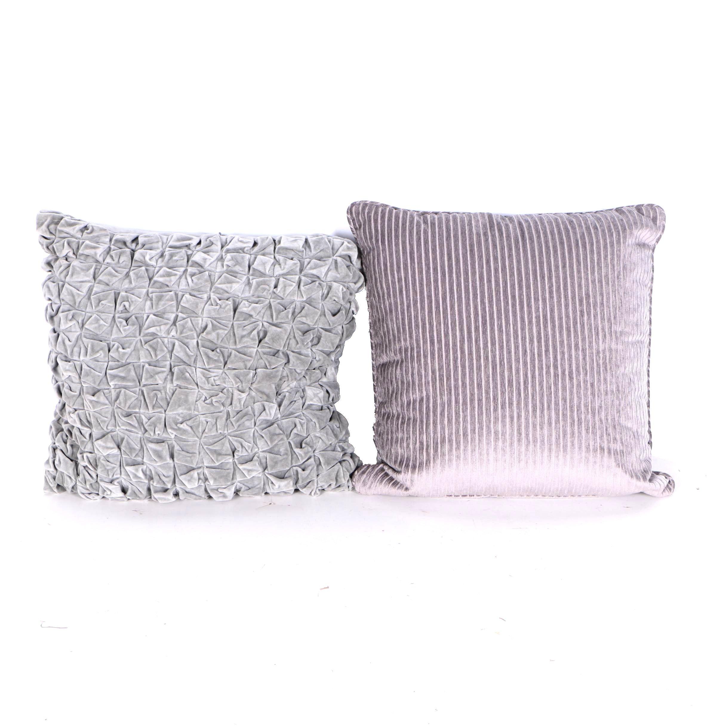 Velveteen Throw Pillows