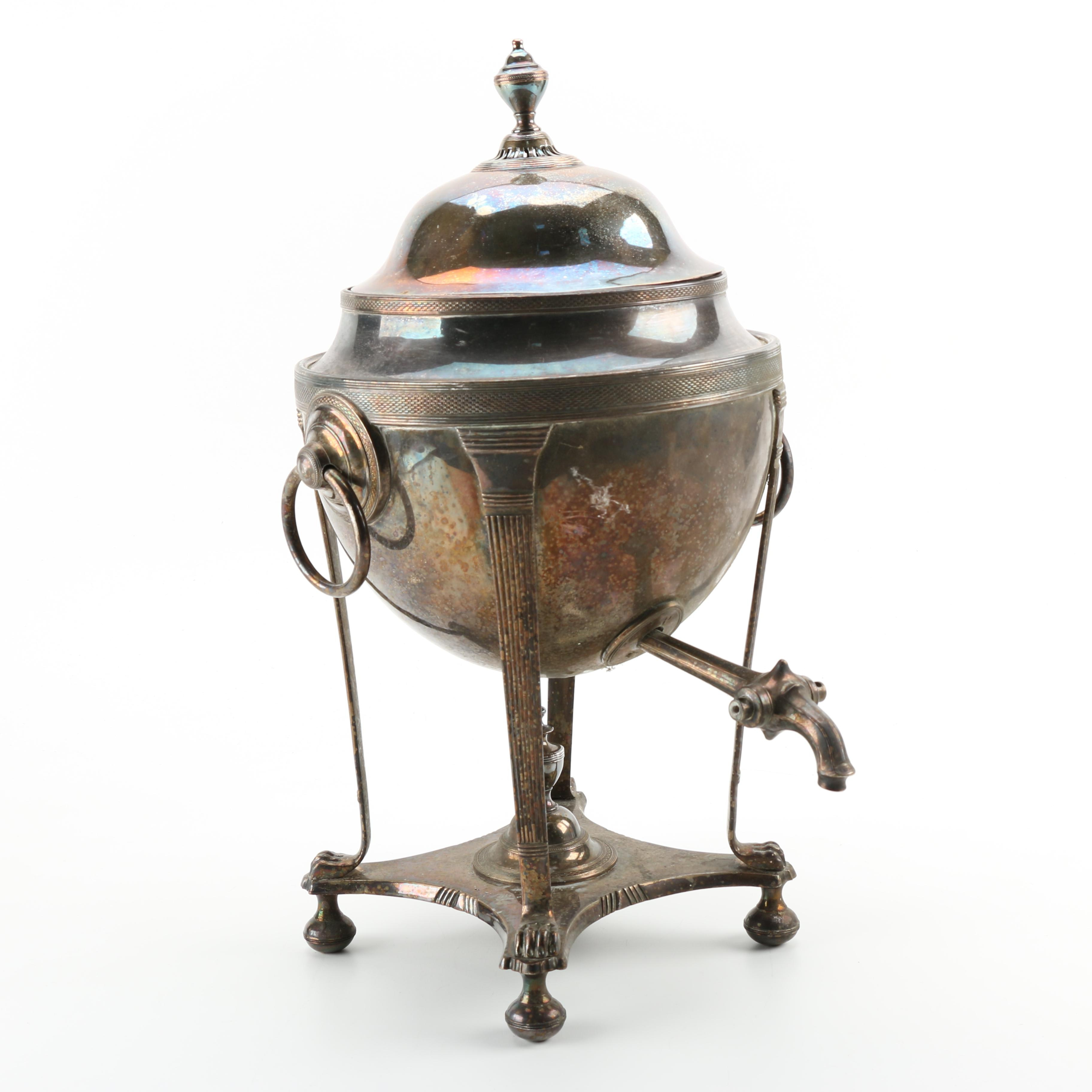 Silver Plate Hot Water Urn