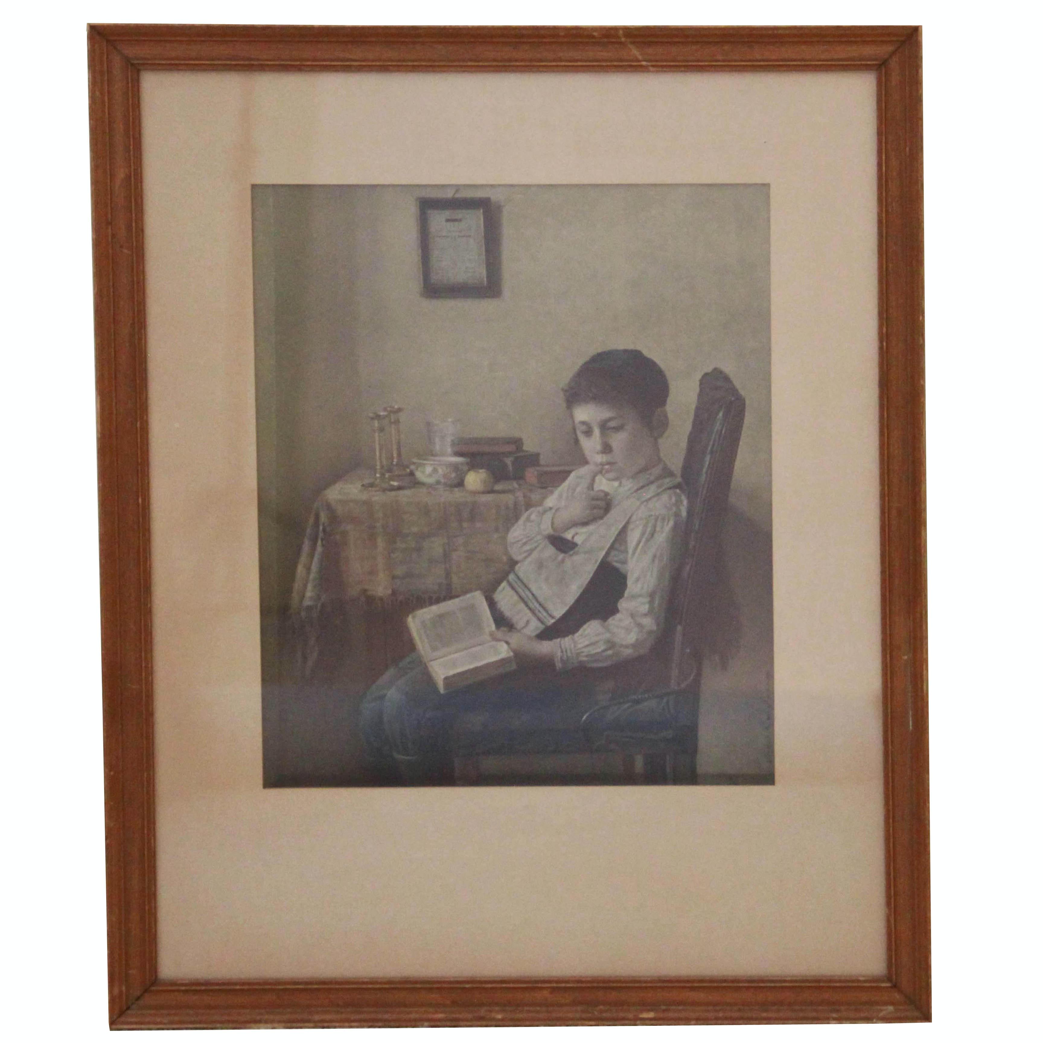 Framed Offset Lithograph After Isidor Kaufmann