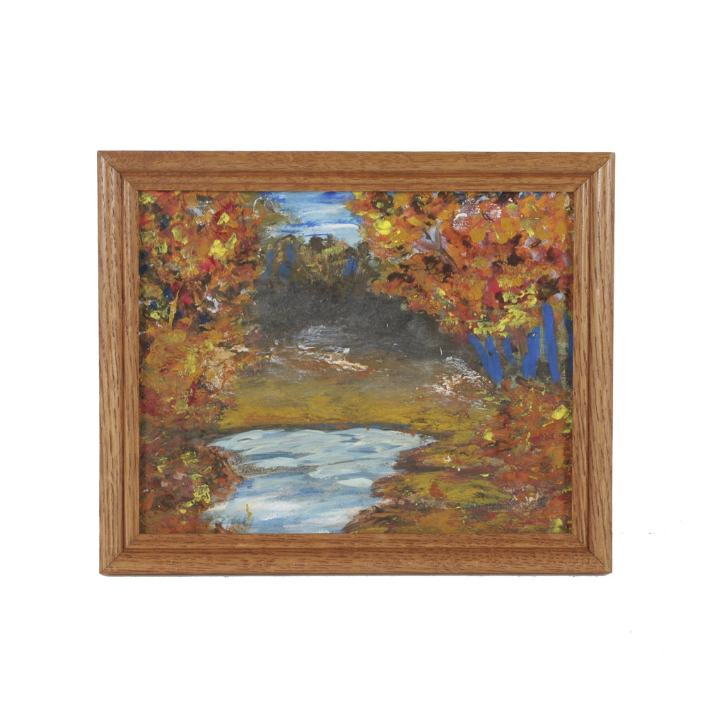 Oil Painting on Canvas Autumnal Landscape
