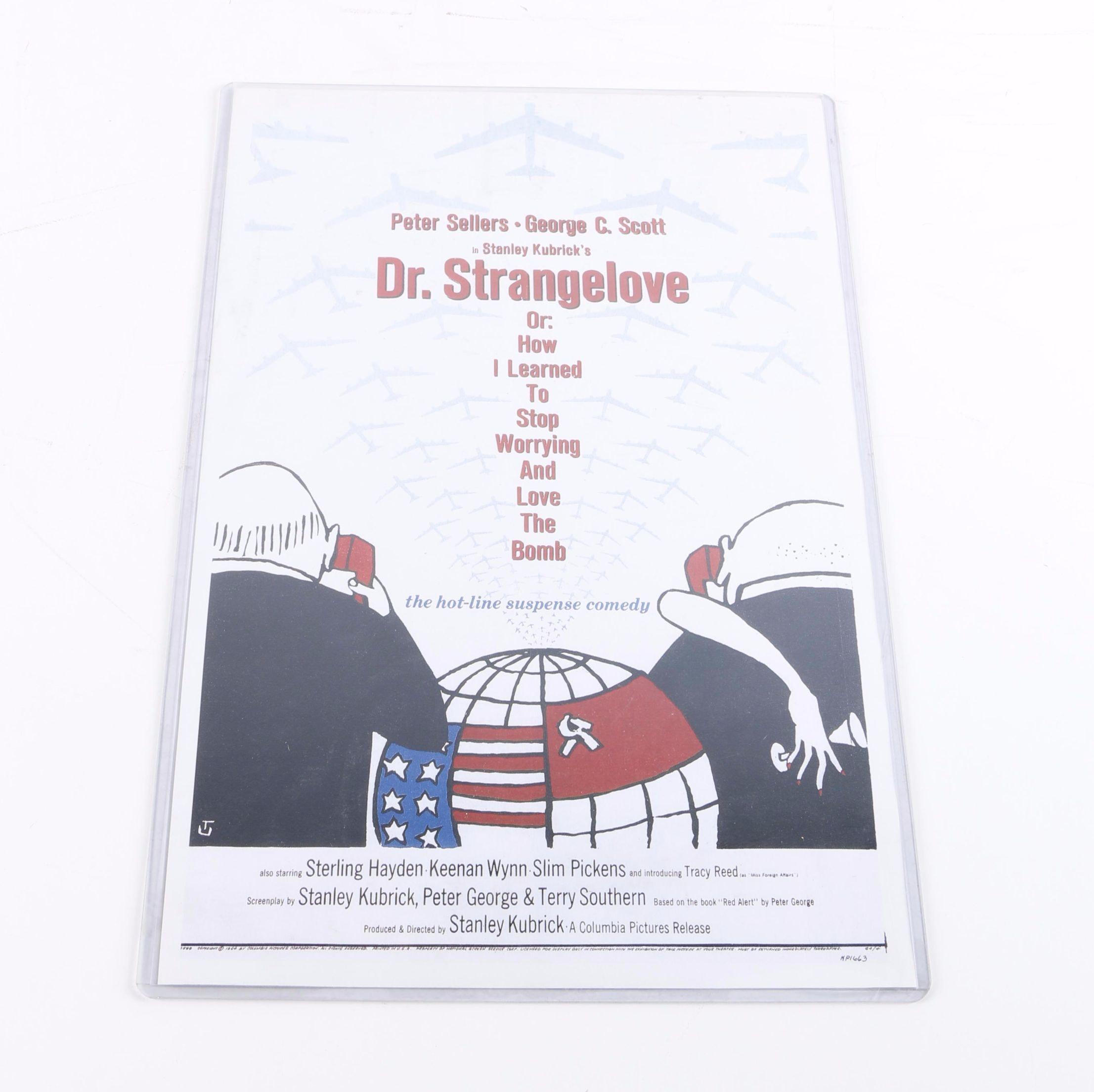 "Digital Print of Stanley Kubrick's ""Dr. Strangelove"" (1964) Movie Poster"