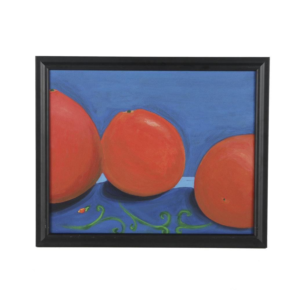 "Acrylic Painting on Canvas ""Oranges"""