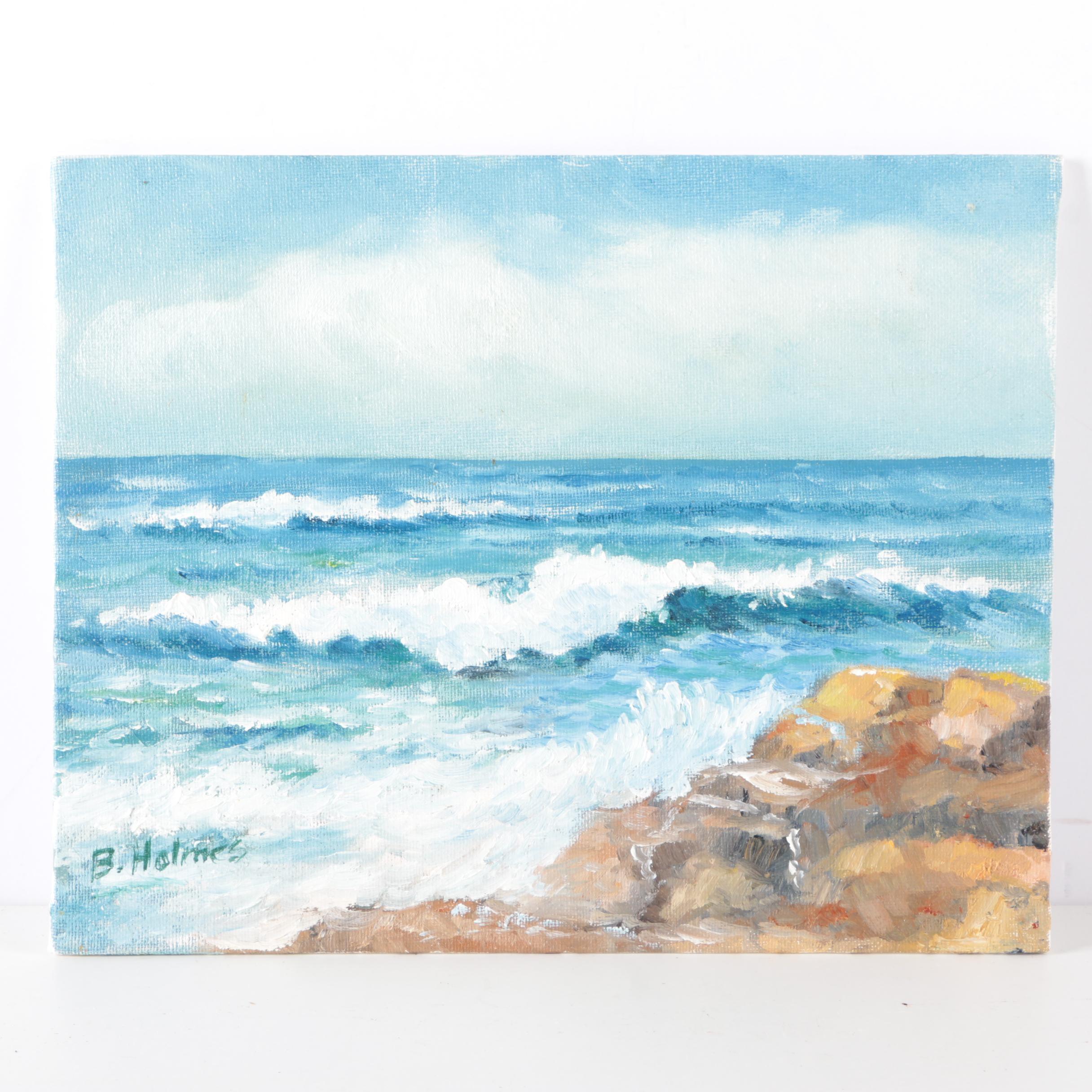 """Byron Holmes Oil Painting """"Carmel Beach"""""""