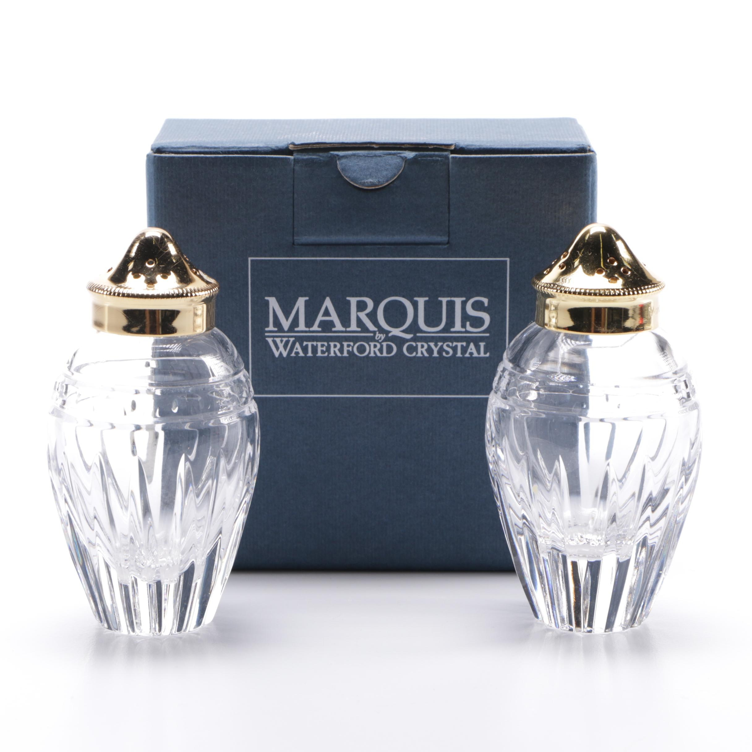Marquis by Waterford Crystal Salt and Pepper Shakers