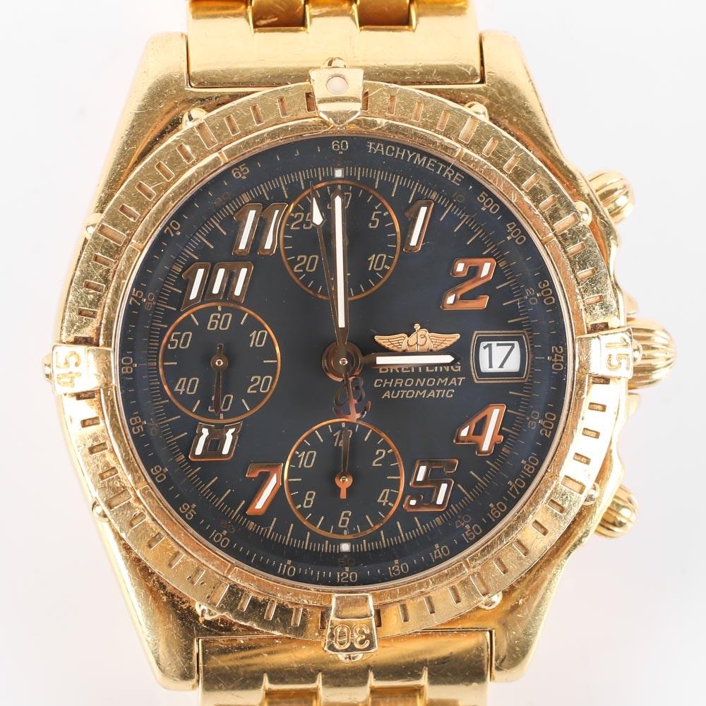 Breitling 18K Yellow Gold Chronomat Automatic Watch