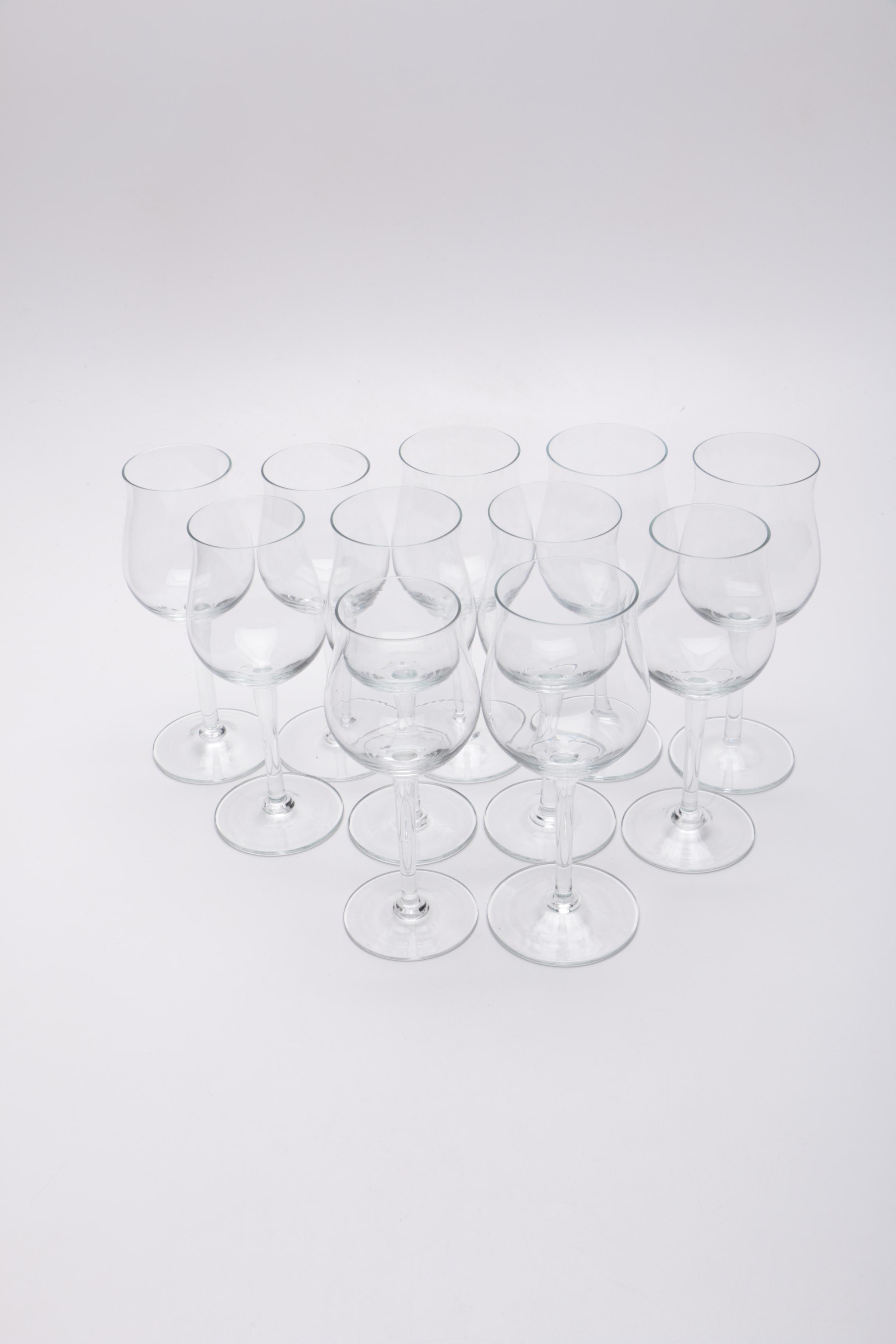 Collection of Crystal White Wine Glasses