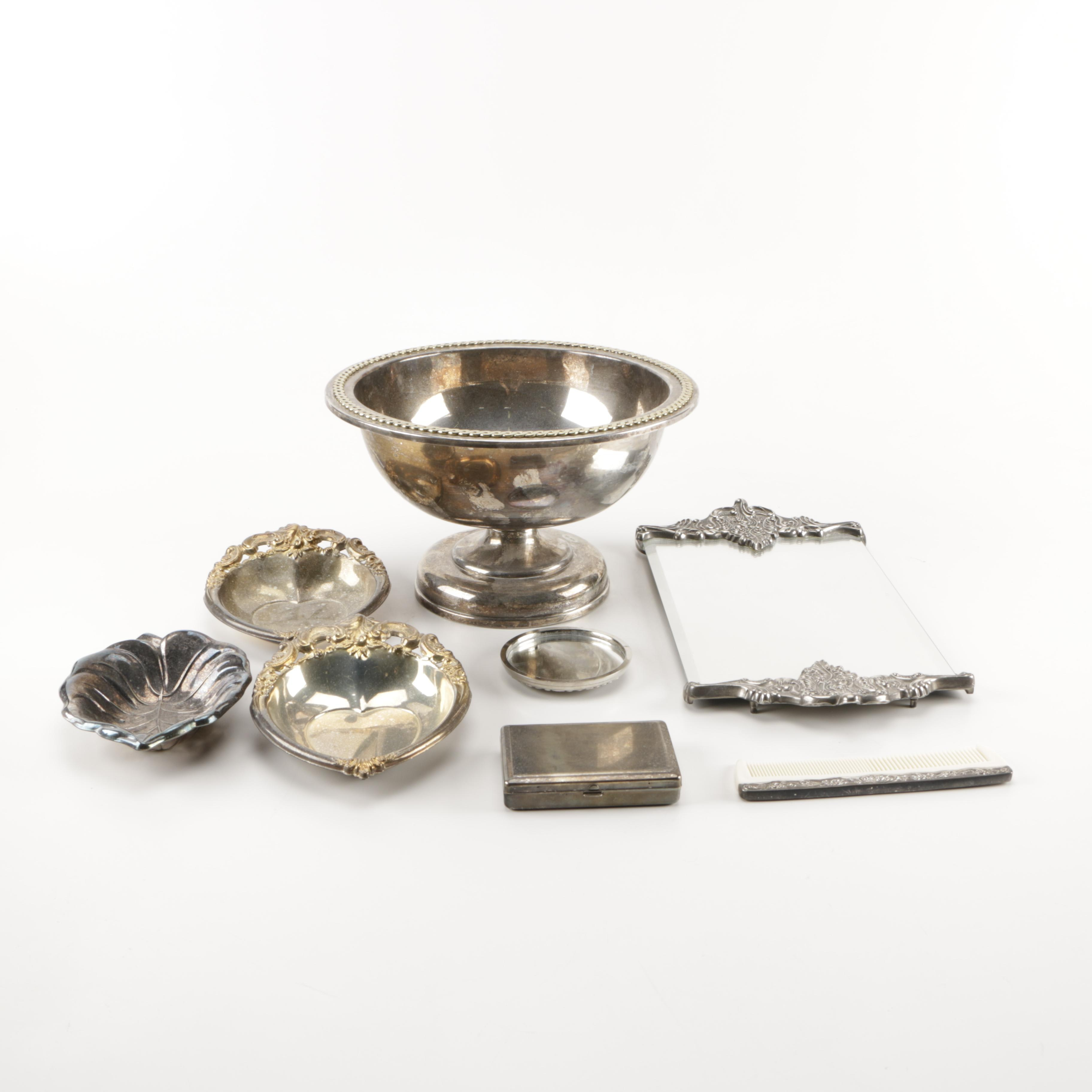 Assortment of Metal Decorative Objects