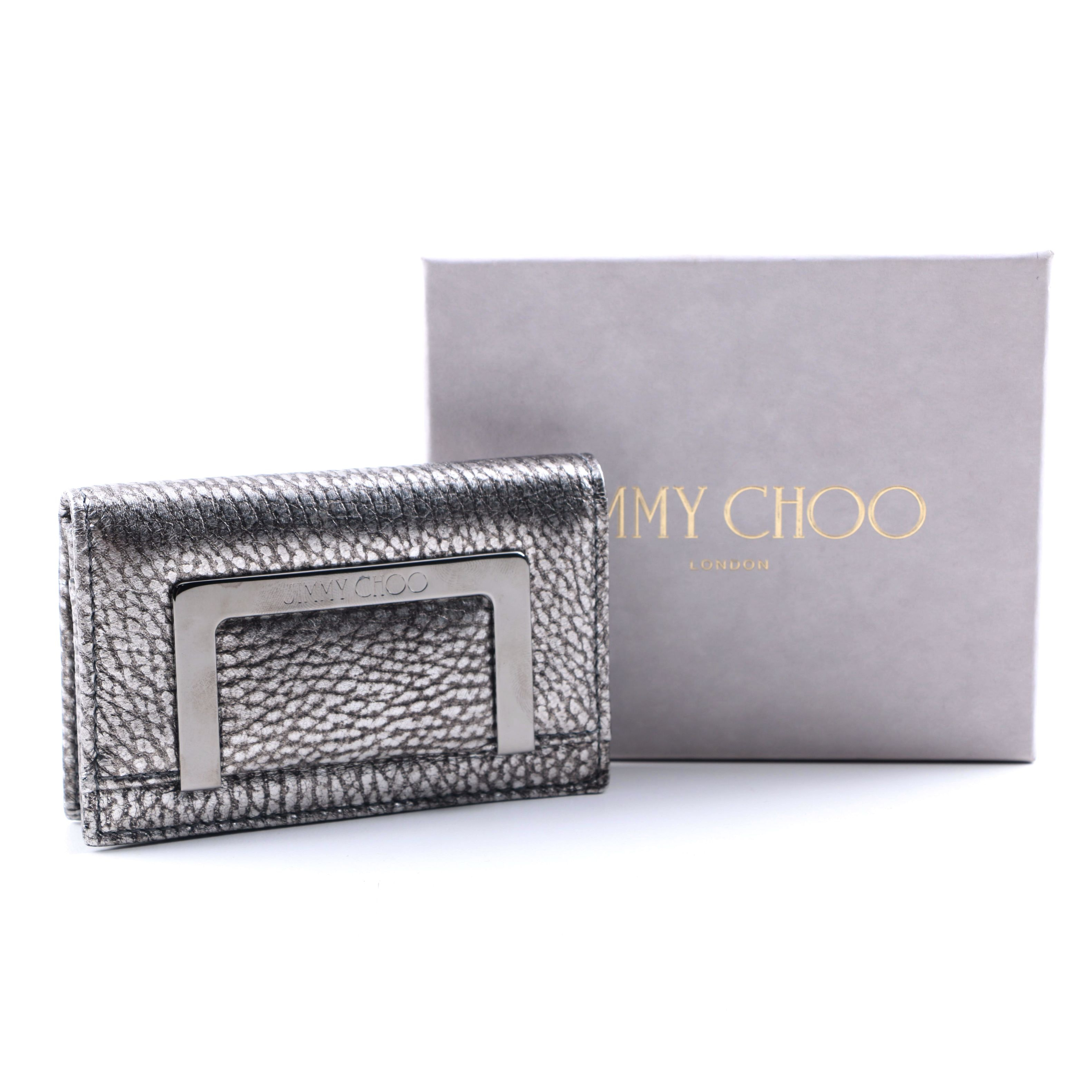 Jimmy Choo Platinum Leather Wallet