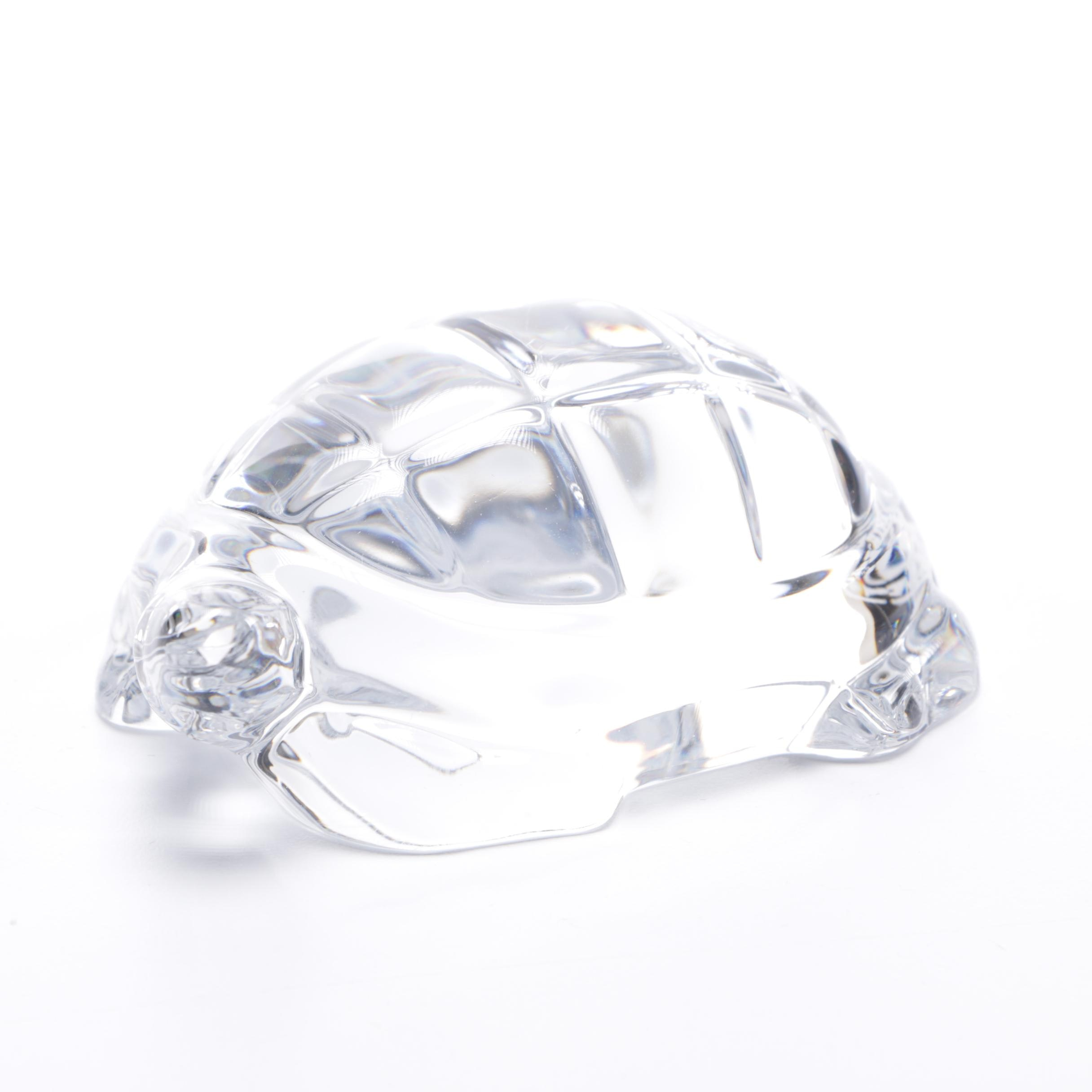 Baccarat Crystal Turtle Hand Cooler