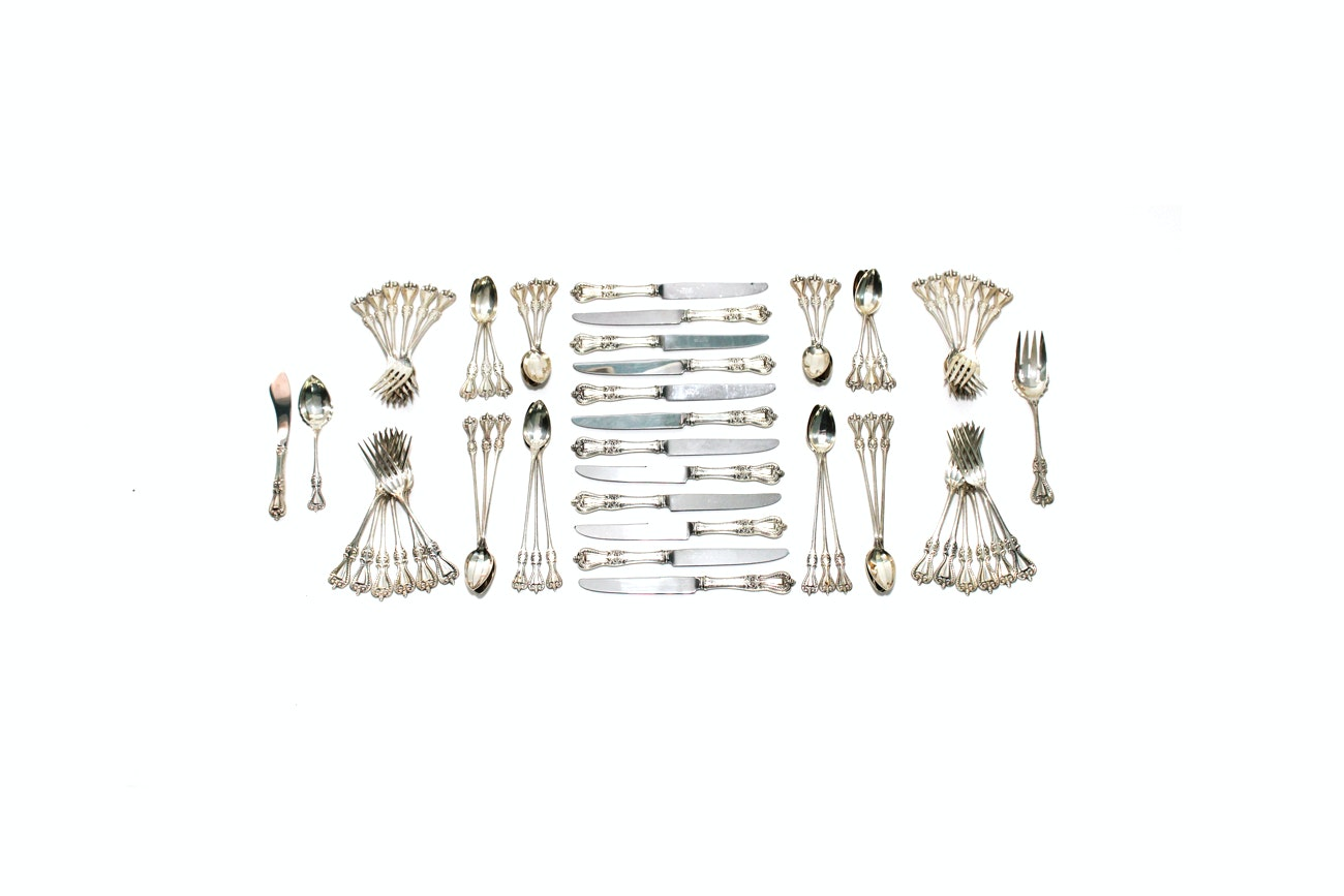 """Towle """"Old Colonial"""" Sterling Silver Flatware Set"""