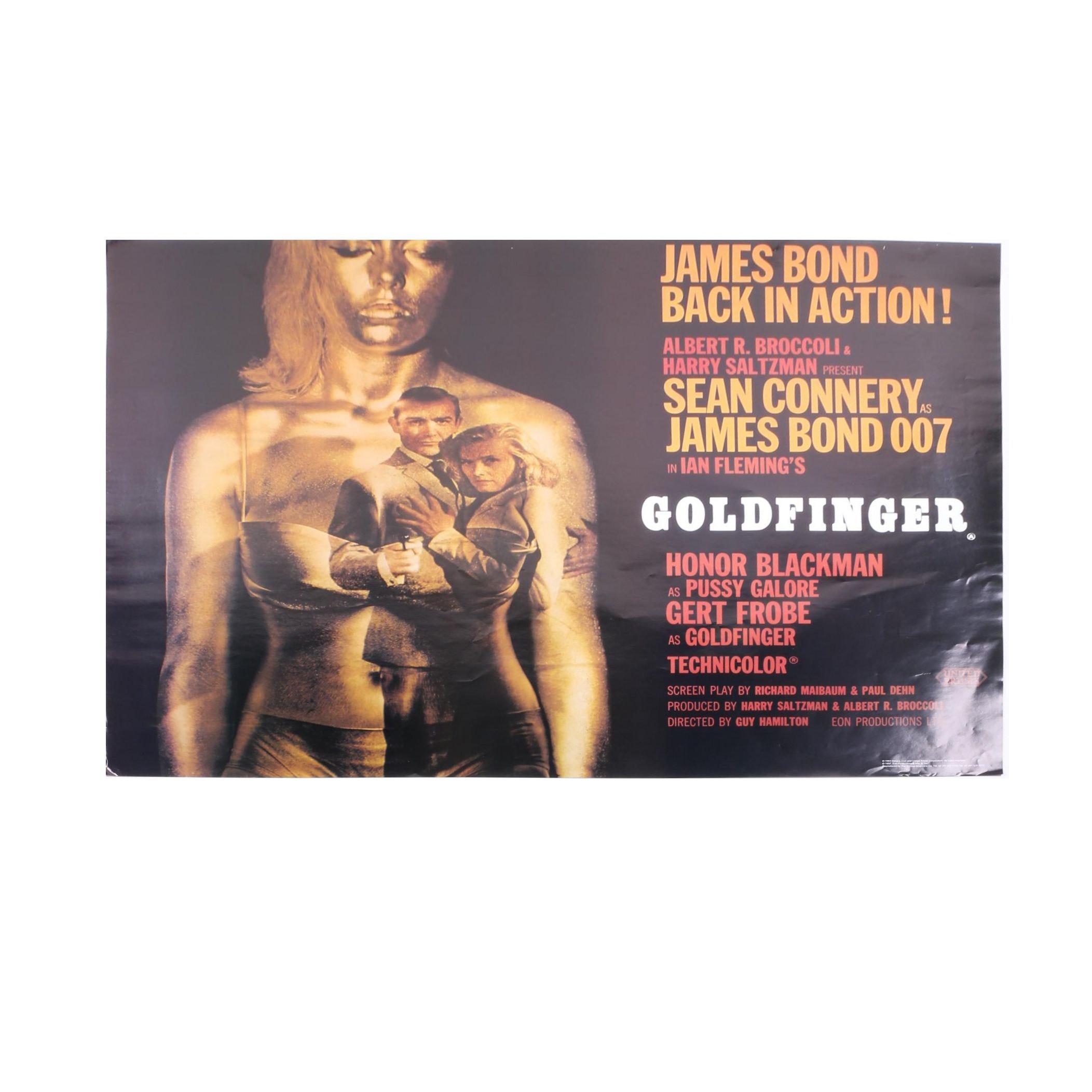 """James Bond """"Goldfinger"""" 1997 Reproduction Film Poster After Robert Brownjohn"""