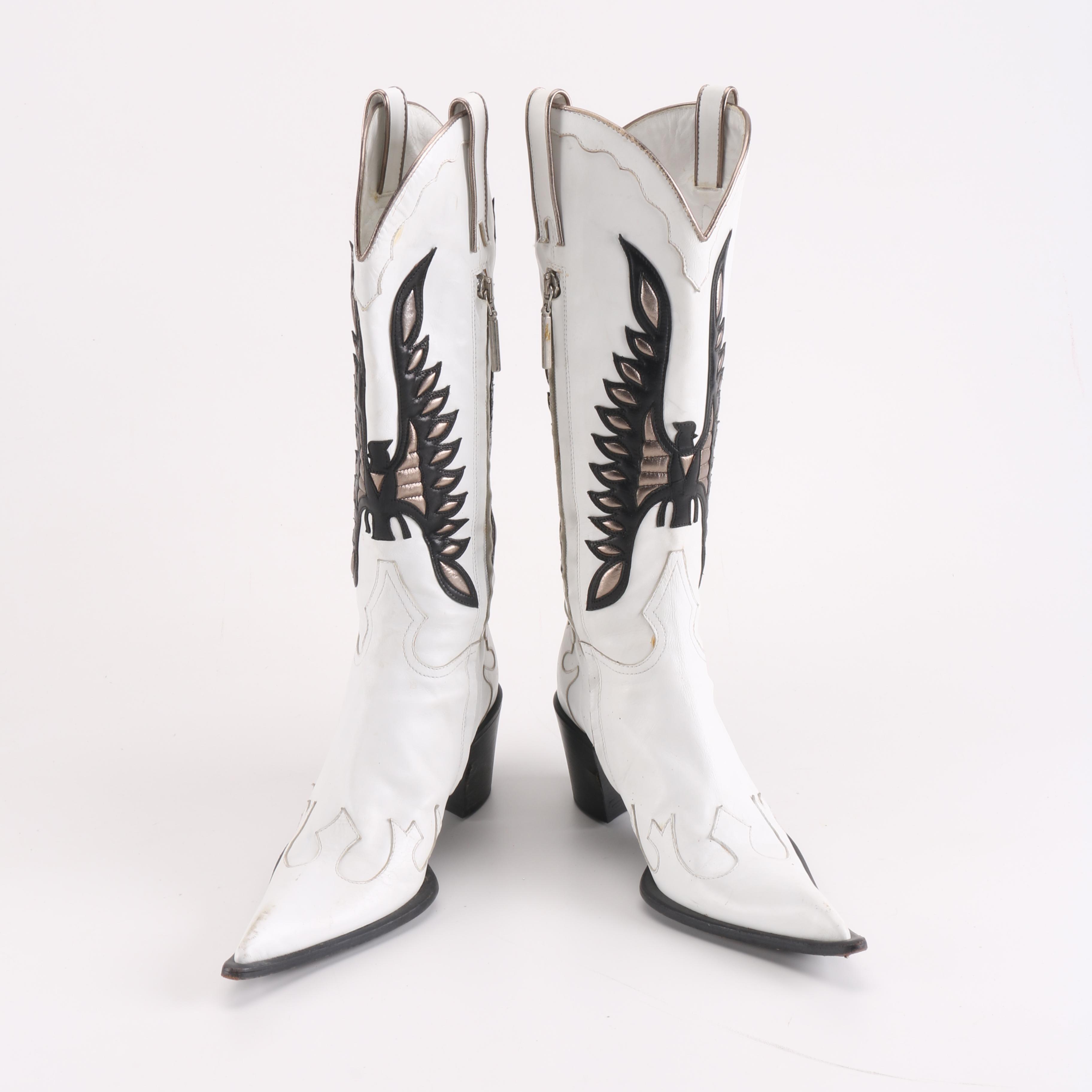 Women's Gianmarco Lorenzi Leather Cowboy Boots