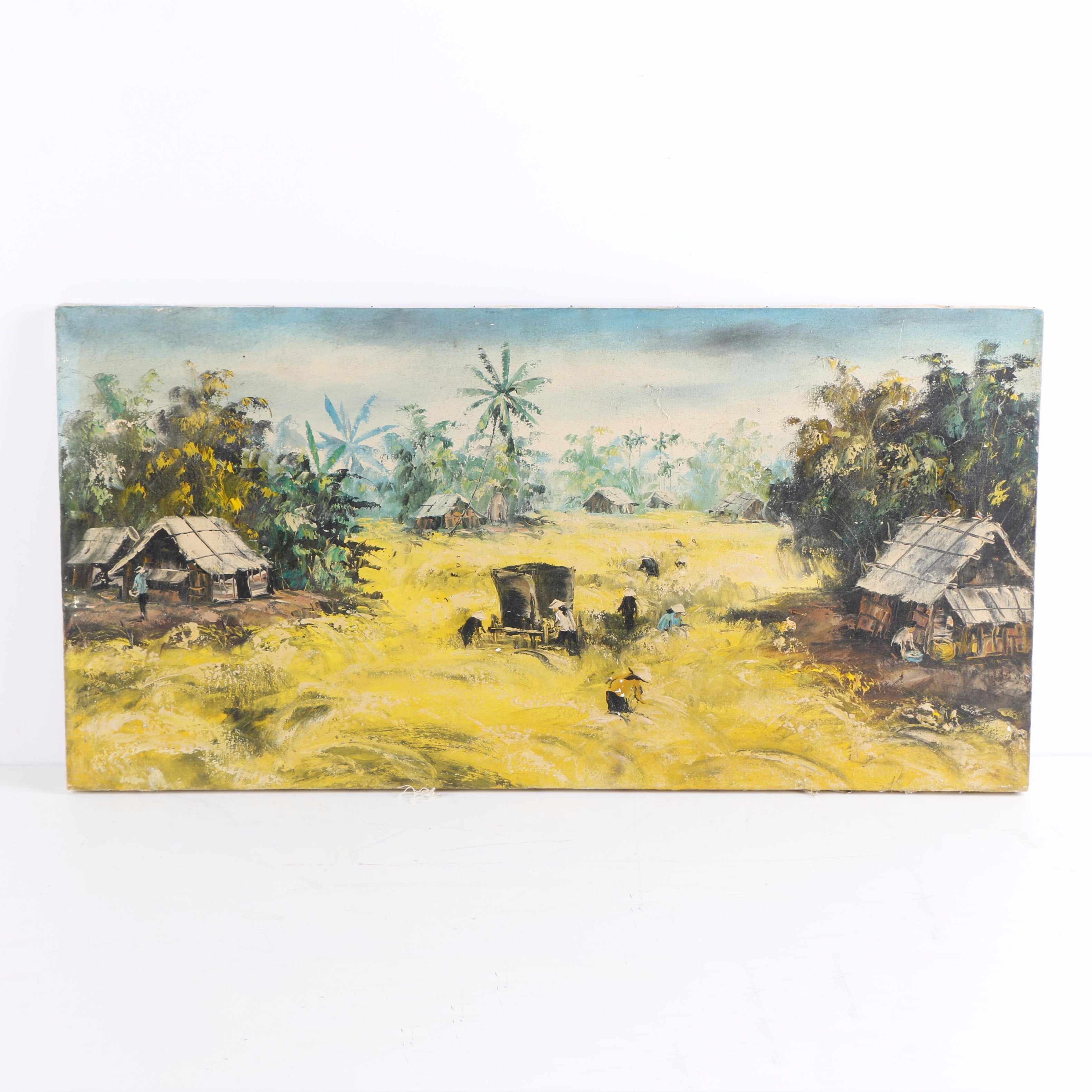 Oil Paintings of Vietnamese Village Scenes