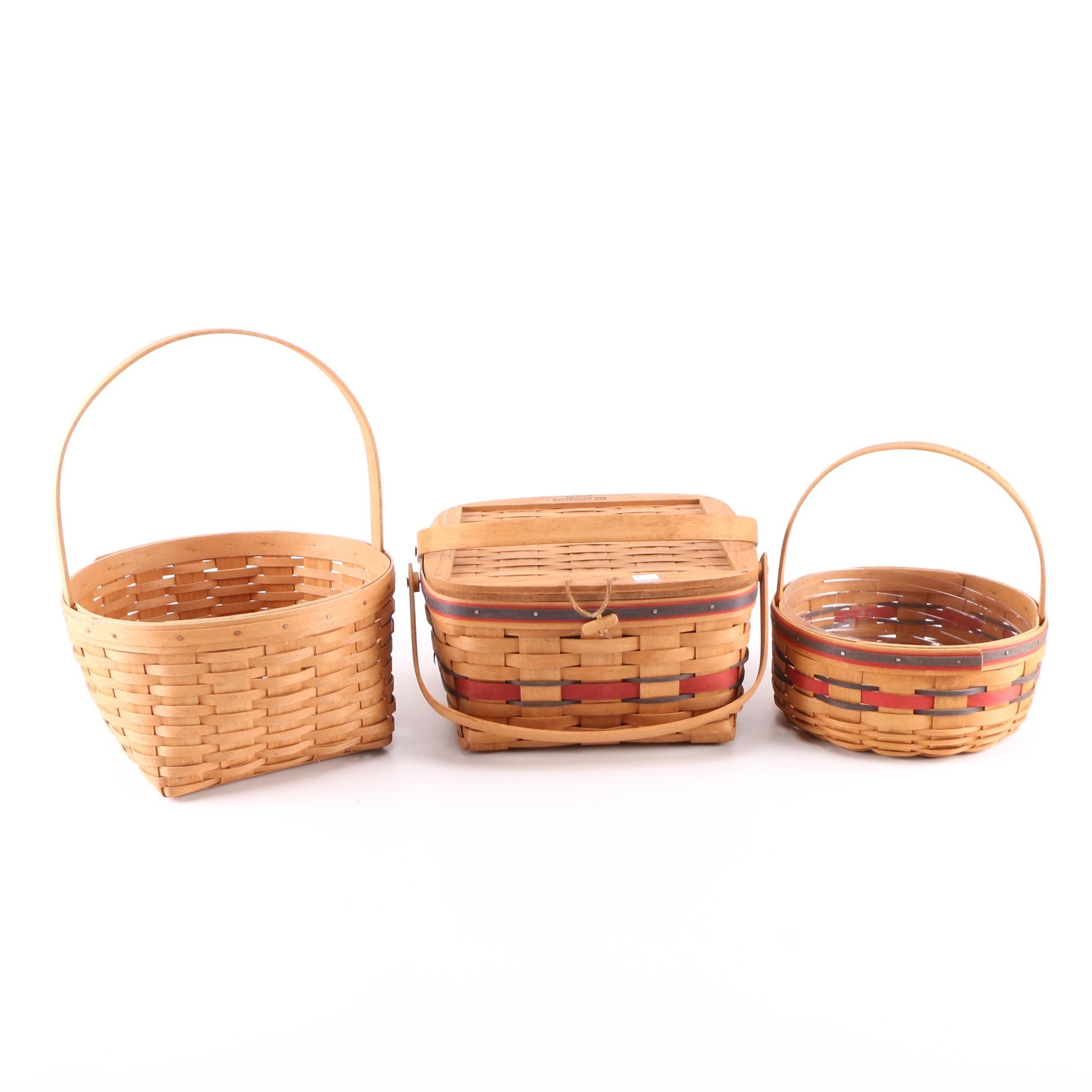Selection of Longaberger Baskets Including Crisco Celebration