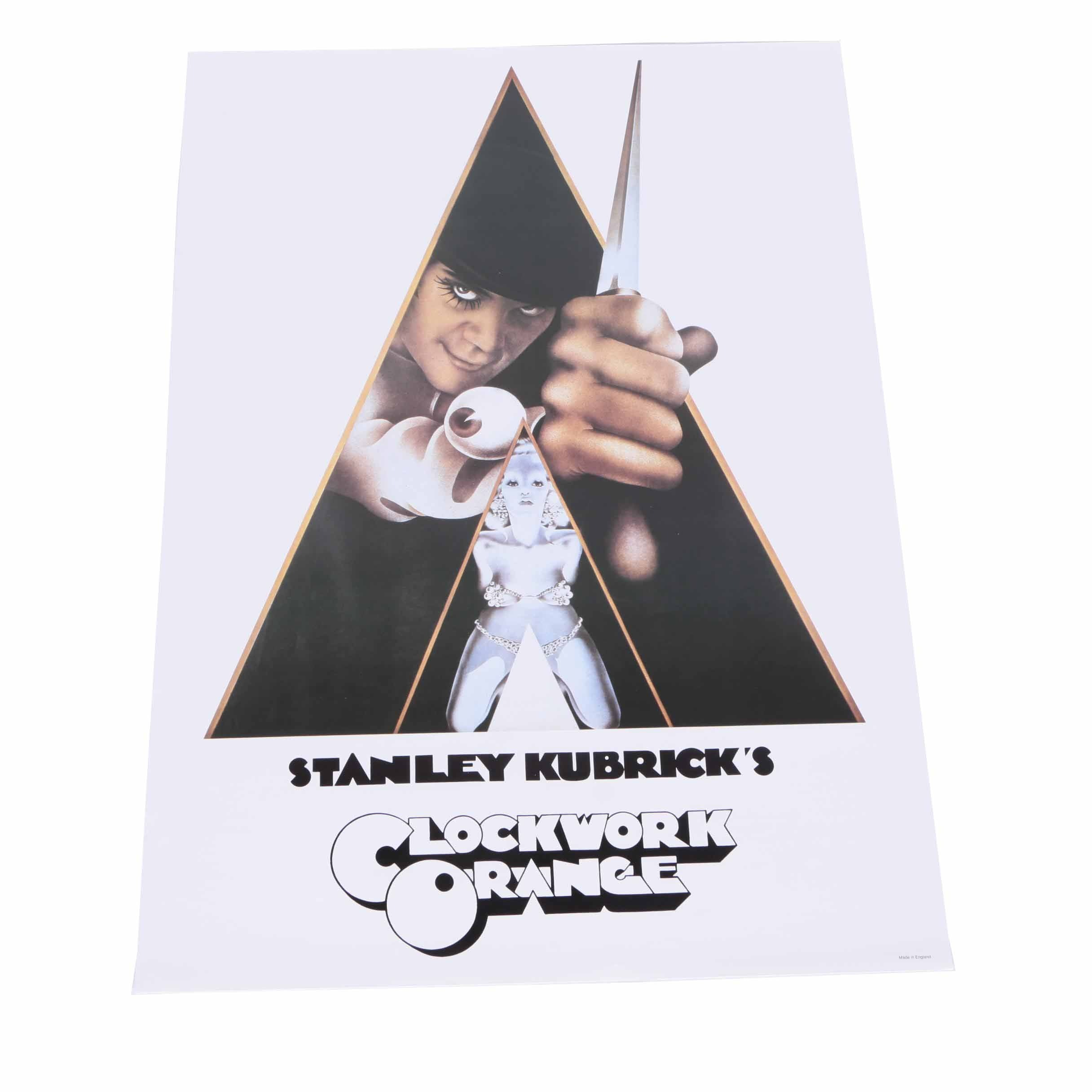 """""""A Clockwork Orange"""" Offset Lithograph Poster After Philip Castle and Bill Gold"""