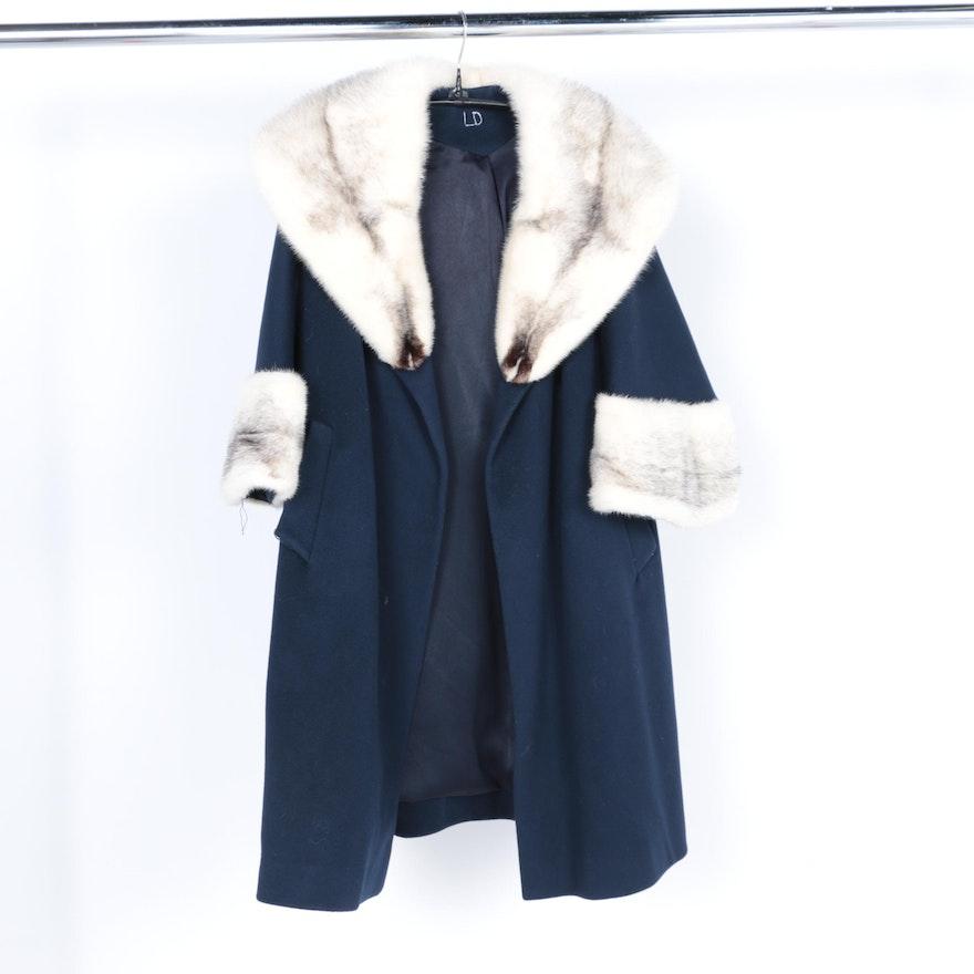 4ffd618ad530 Heidi Wool Coat with Fitch Fur Trim   EBTH