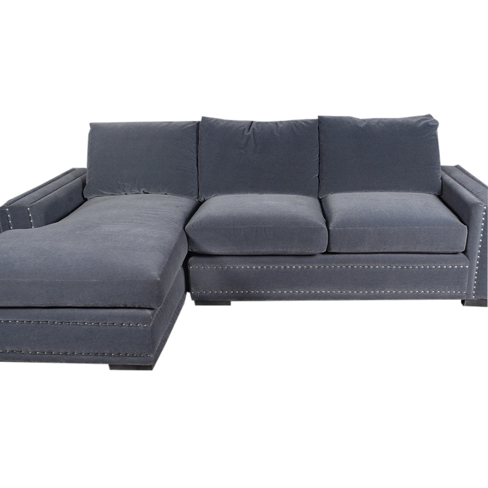 Grey Mohair Sectional