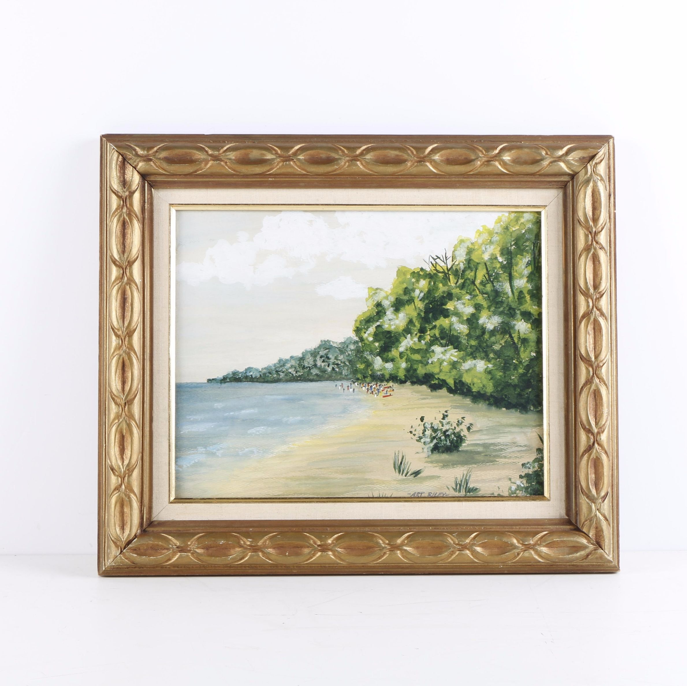 "Art Riley Watercolor Painting ""California"""