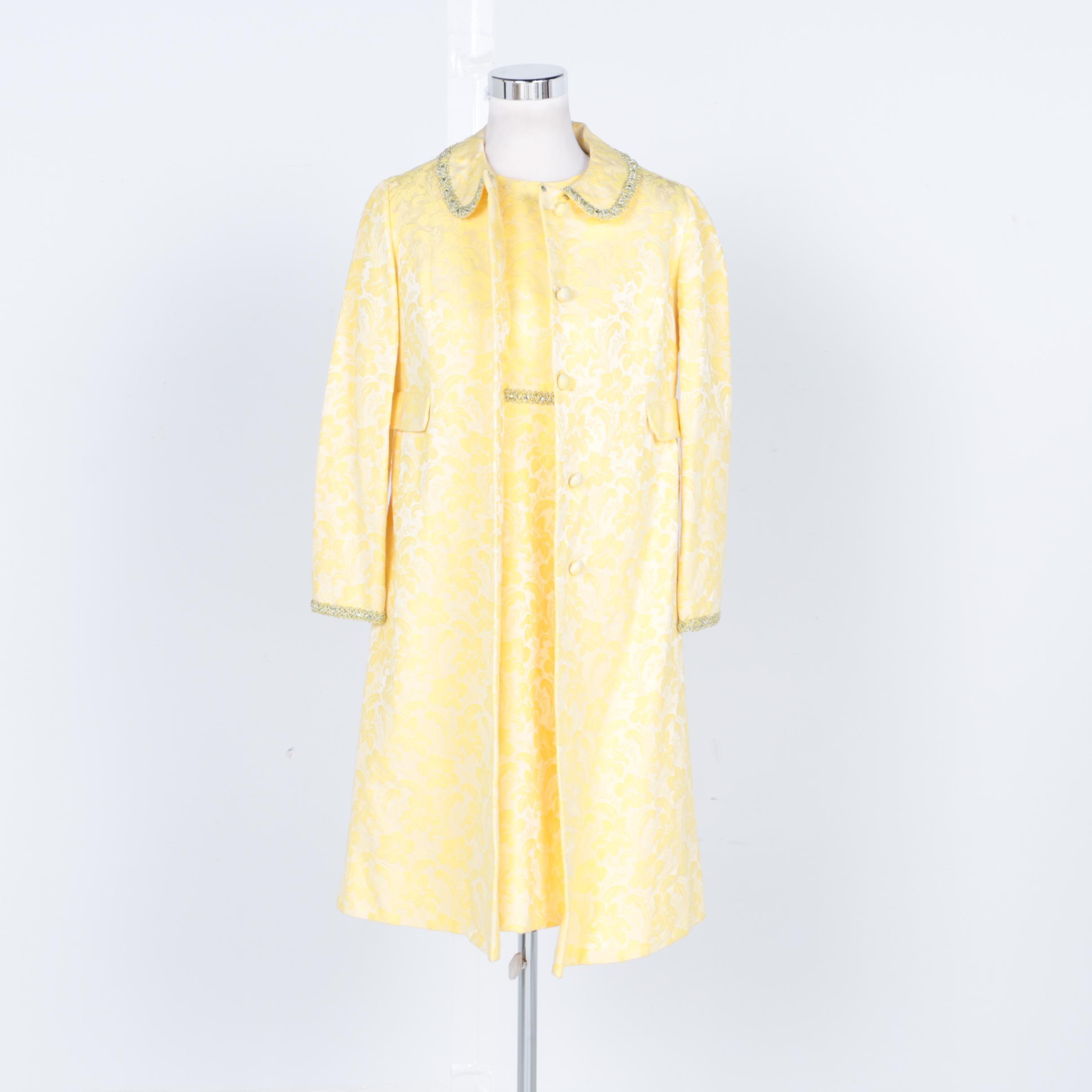 Circa 1960's Leslie Fay Coat and Dress
