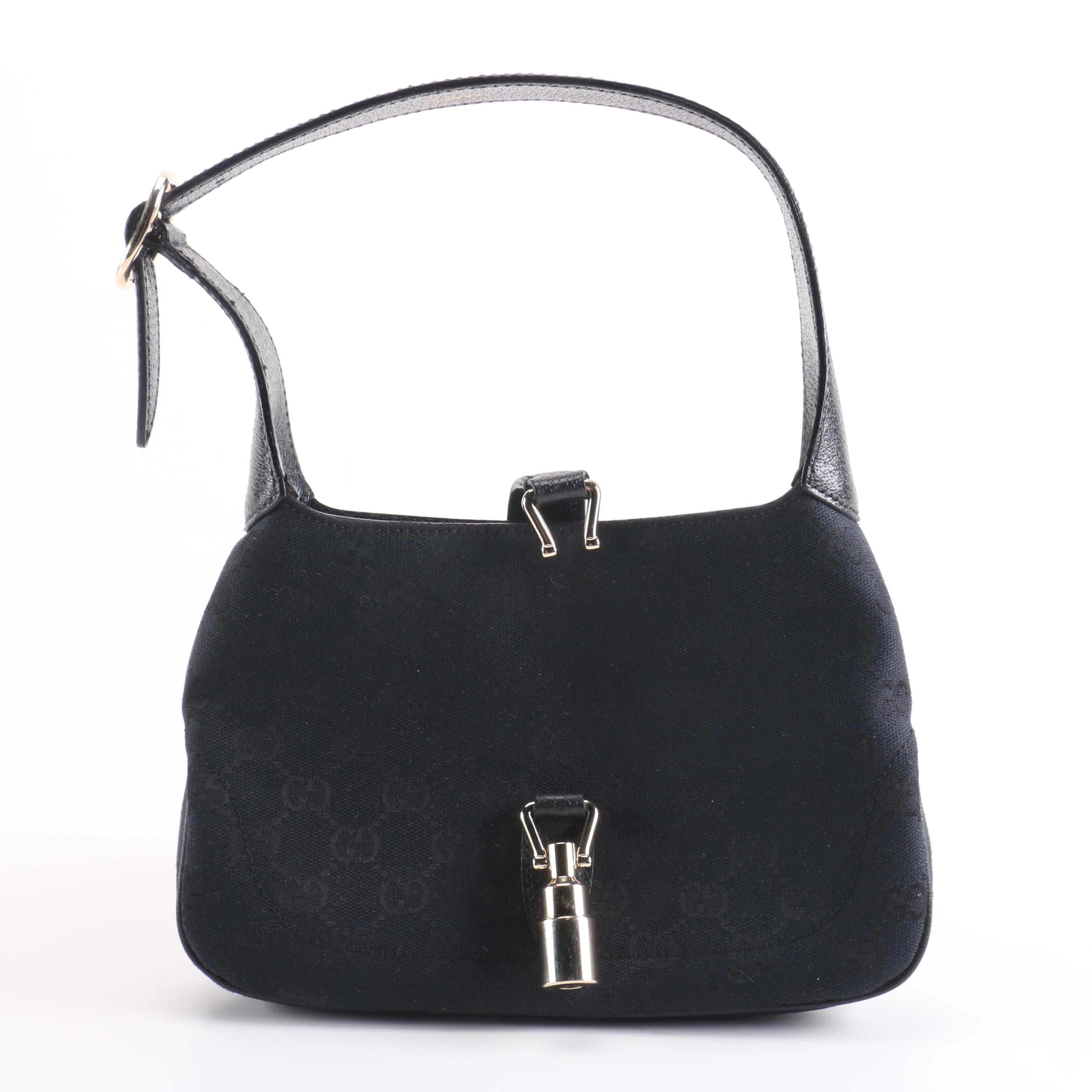 Gucci Black Canvas Handbag
