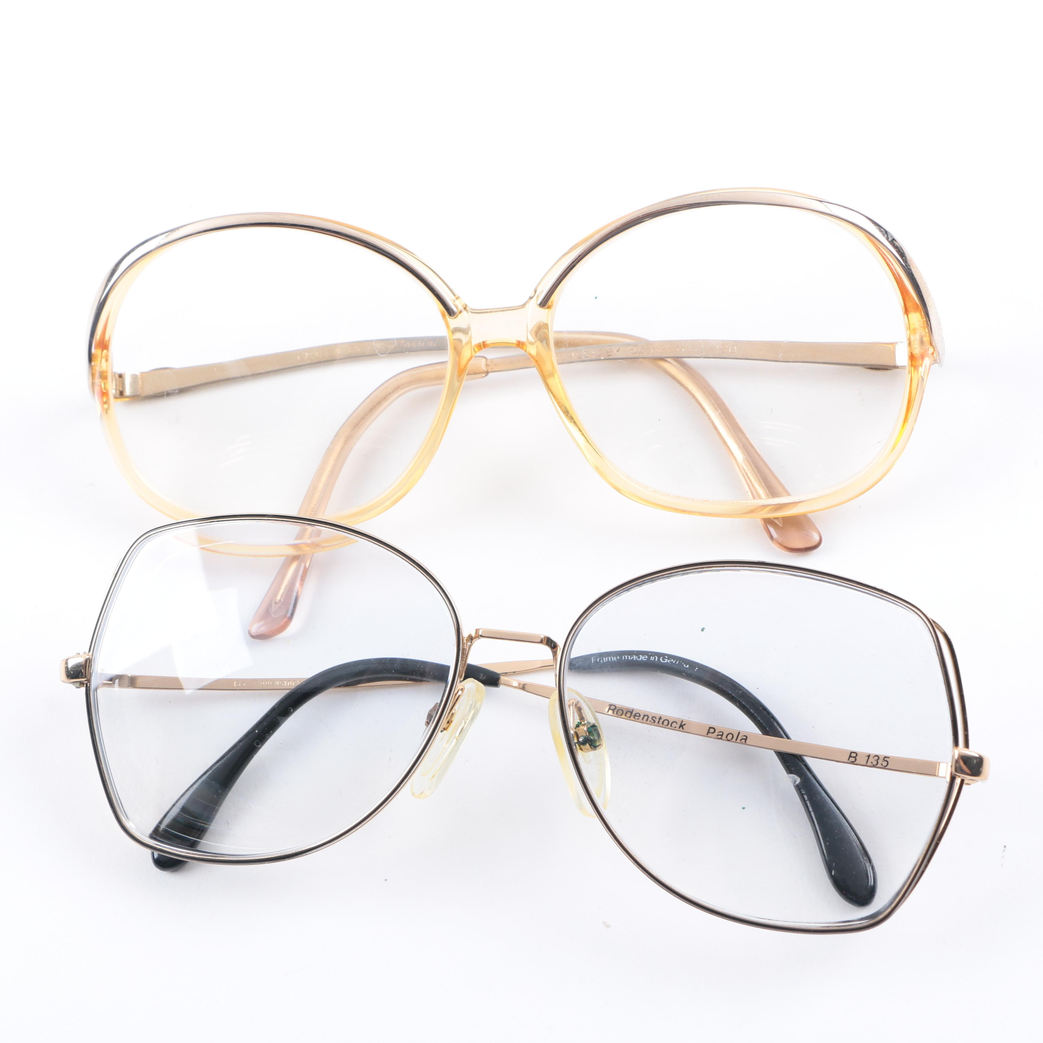 Prescription Vintage Glasses Including Rodenstock and Oleg Cassini